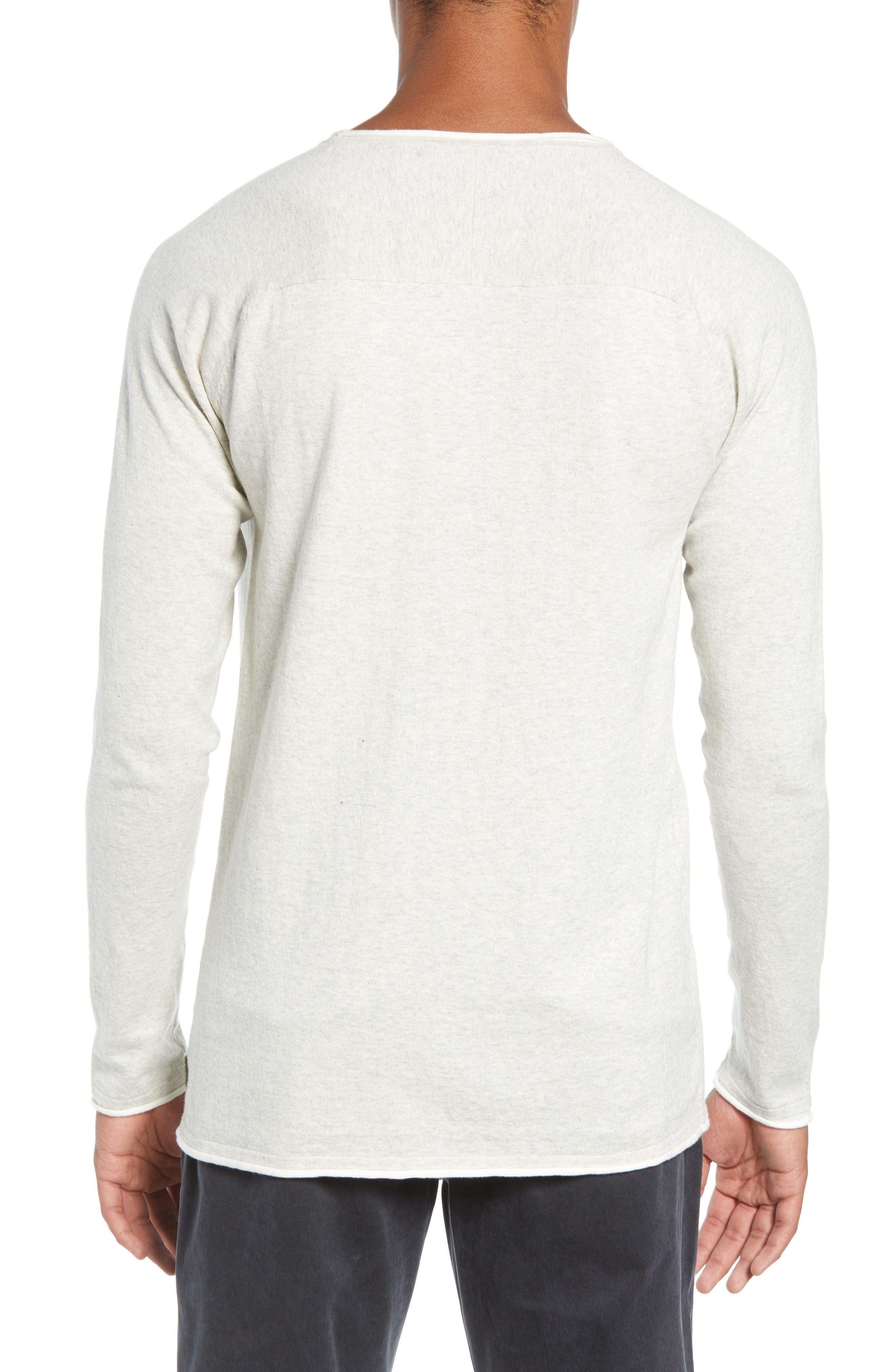 Crewneck Sweatshirt,                             Alternate thumbnail 2, color,                             BONE WHITE MELANGE