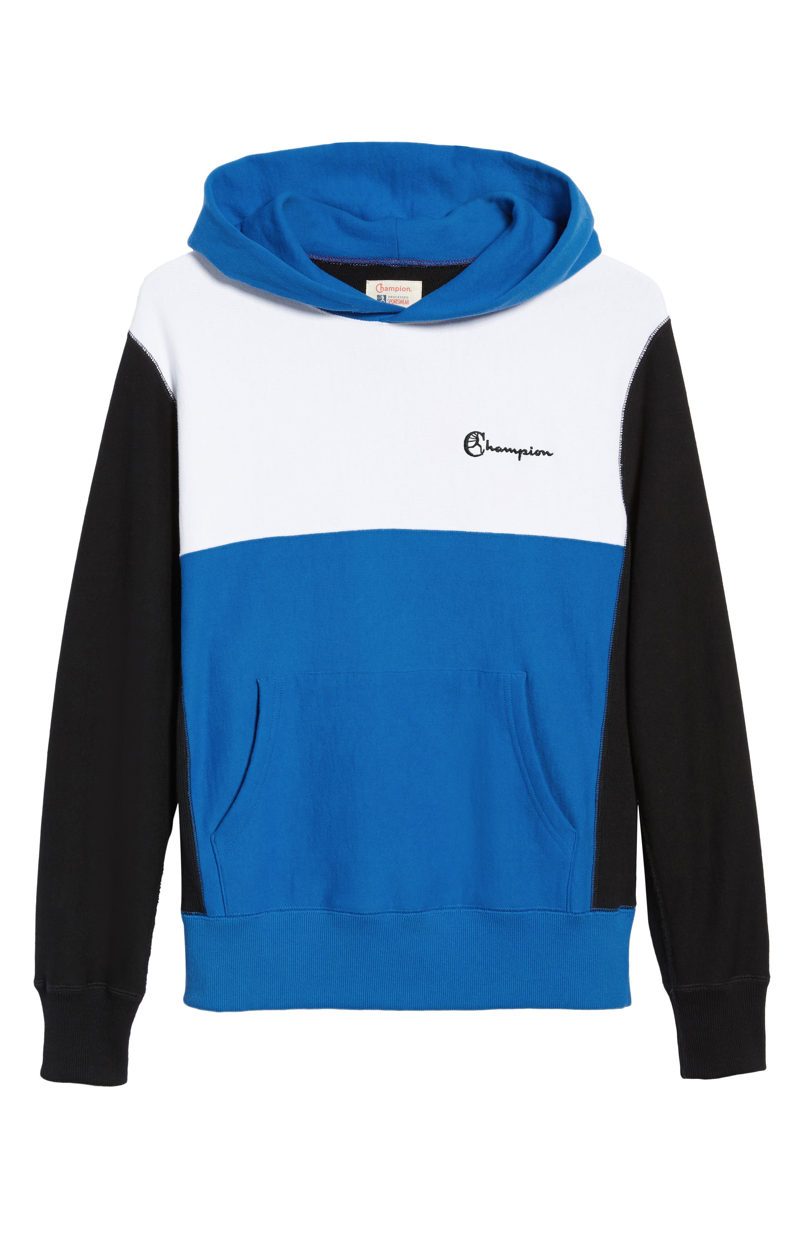 Regular Fit Colorblock Hoodie,                             Alternate thumbnail 6, color,                             BLUE