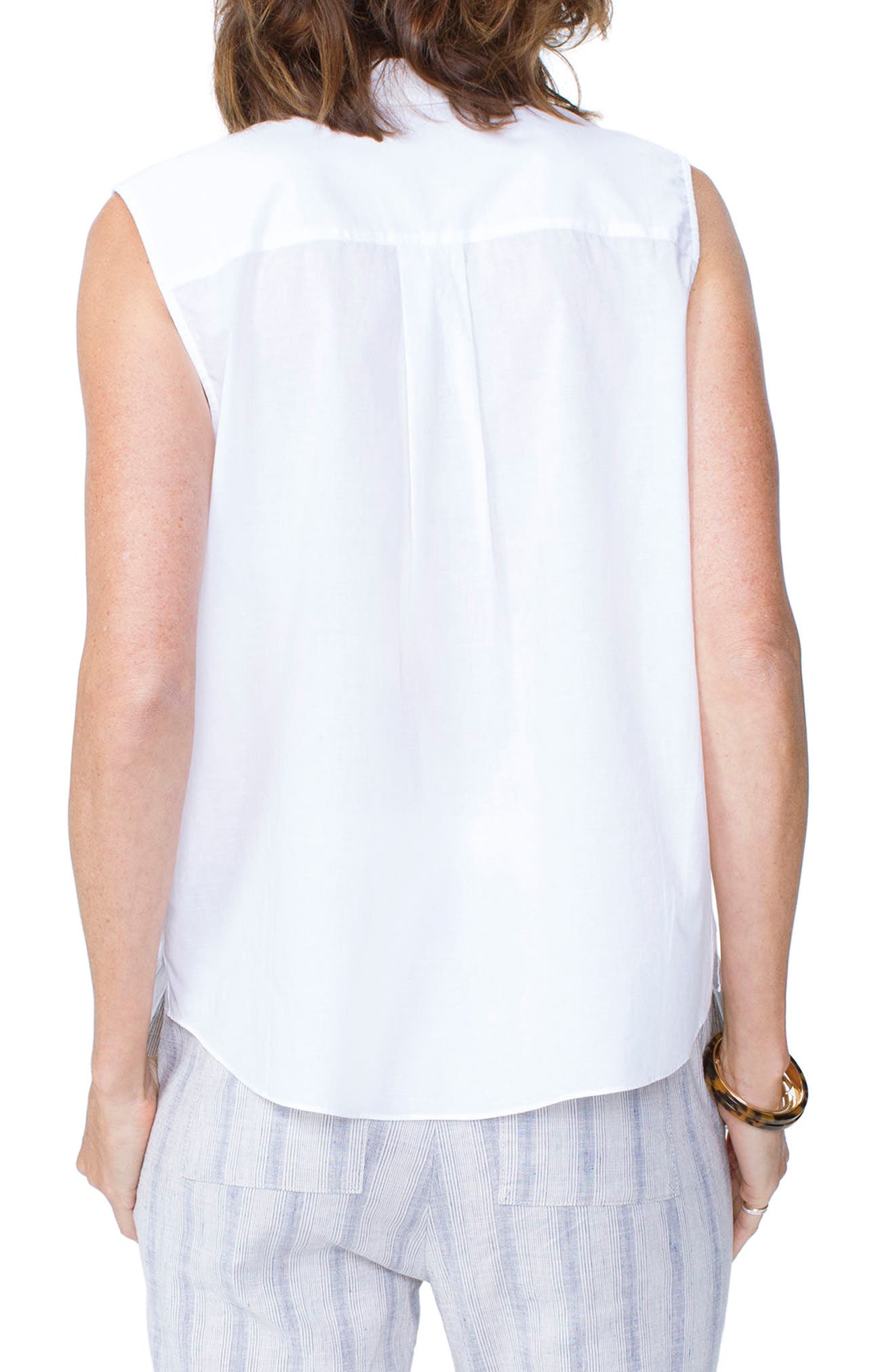 Sleeveless Cotton Top,                             Alternate thumbnail 2, color,                             103