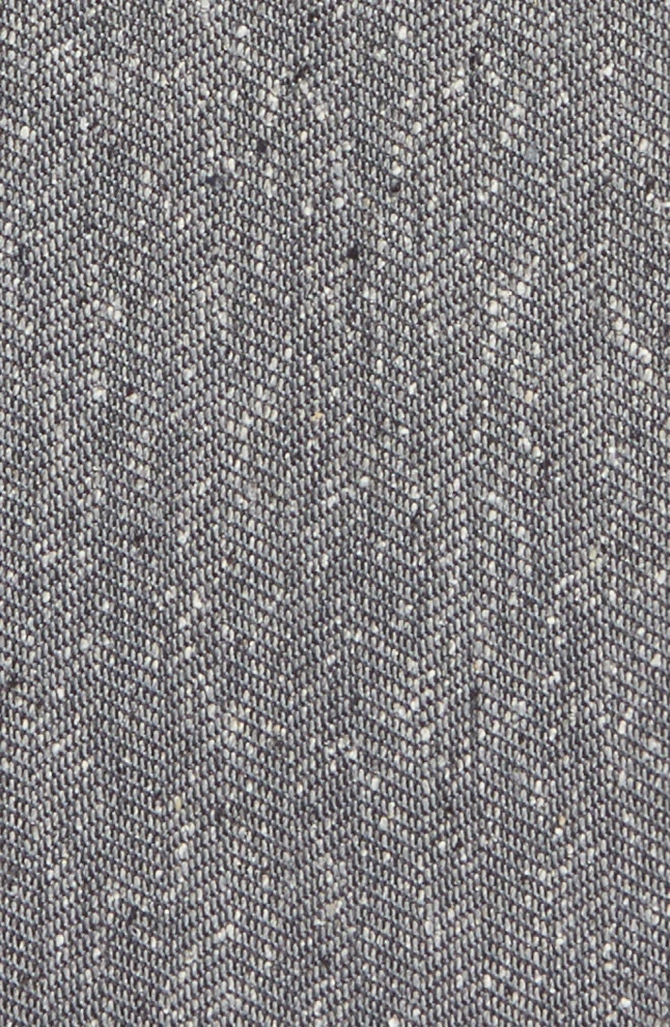Threaded Zigzag Silk Pocket Square,                             Alternate thumbnail 7, color,