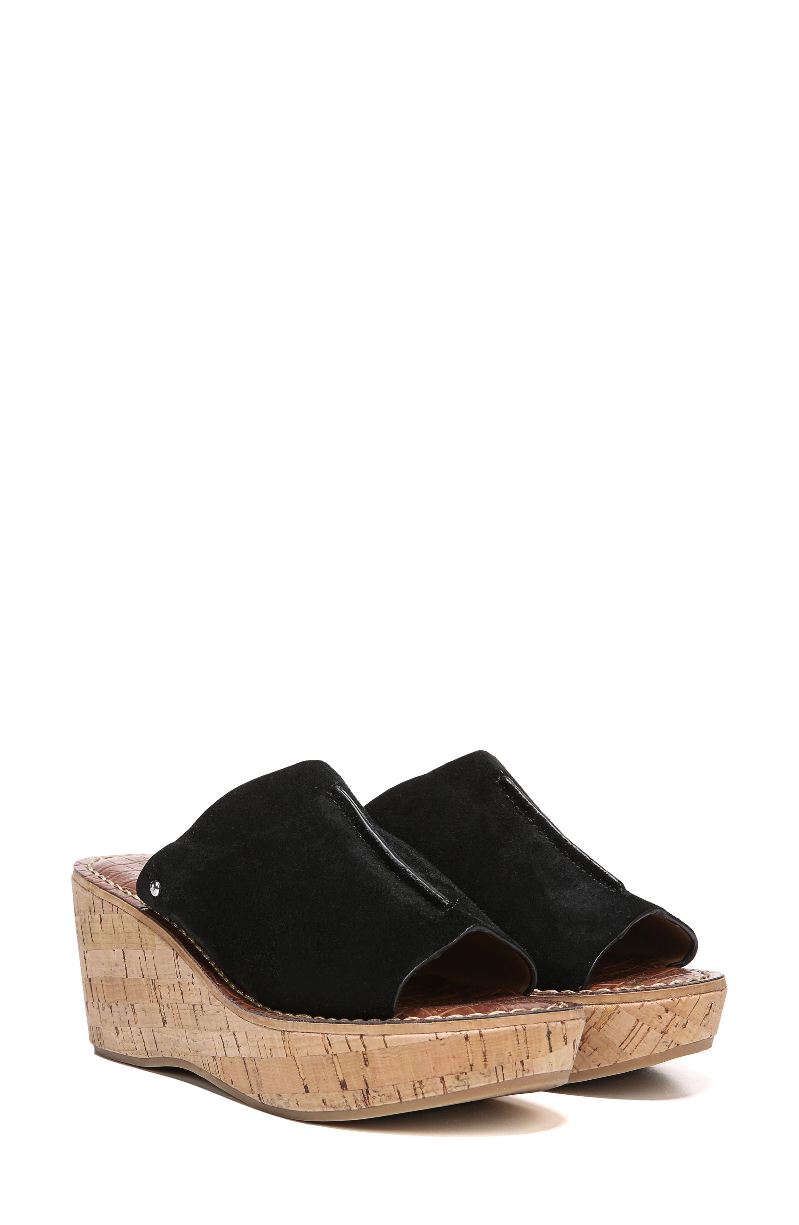 SAM EDELMAN,                             Ranger Platform Sandal,                             Alternate thumbnail 10, color,                             BLACK SUEDE