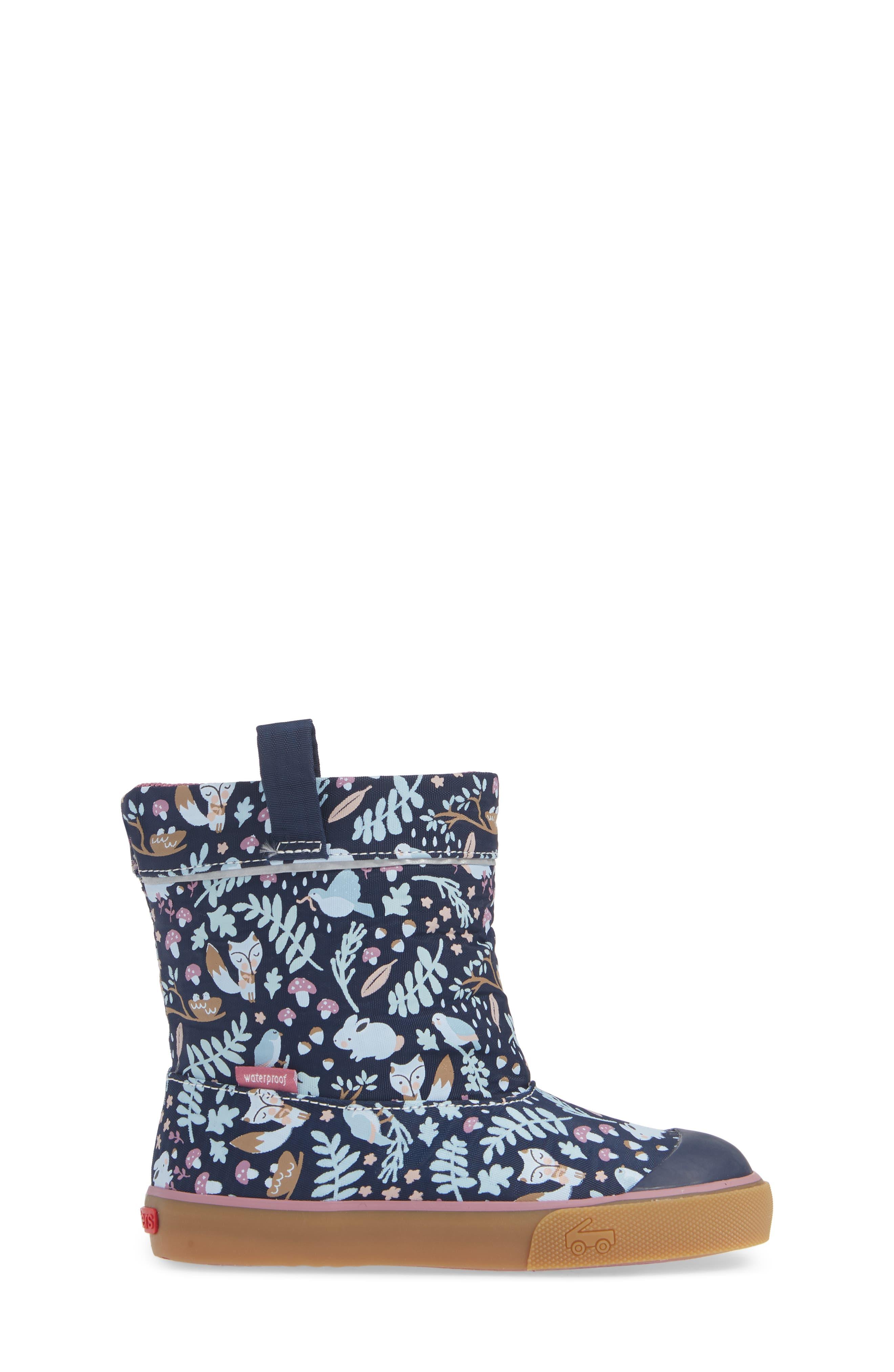 Montlake Waterproof Boot,                             Alternate thumbnail 3, color,                             NAVY WOODLAND