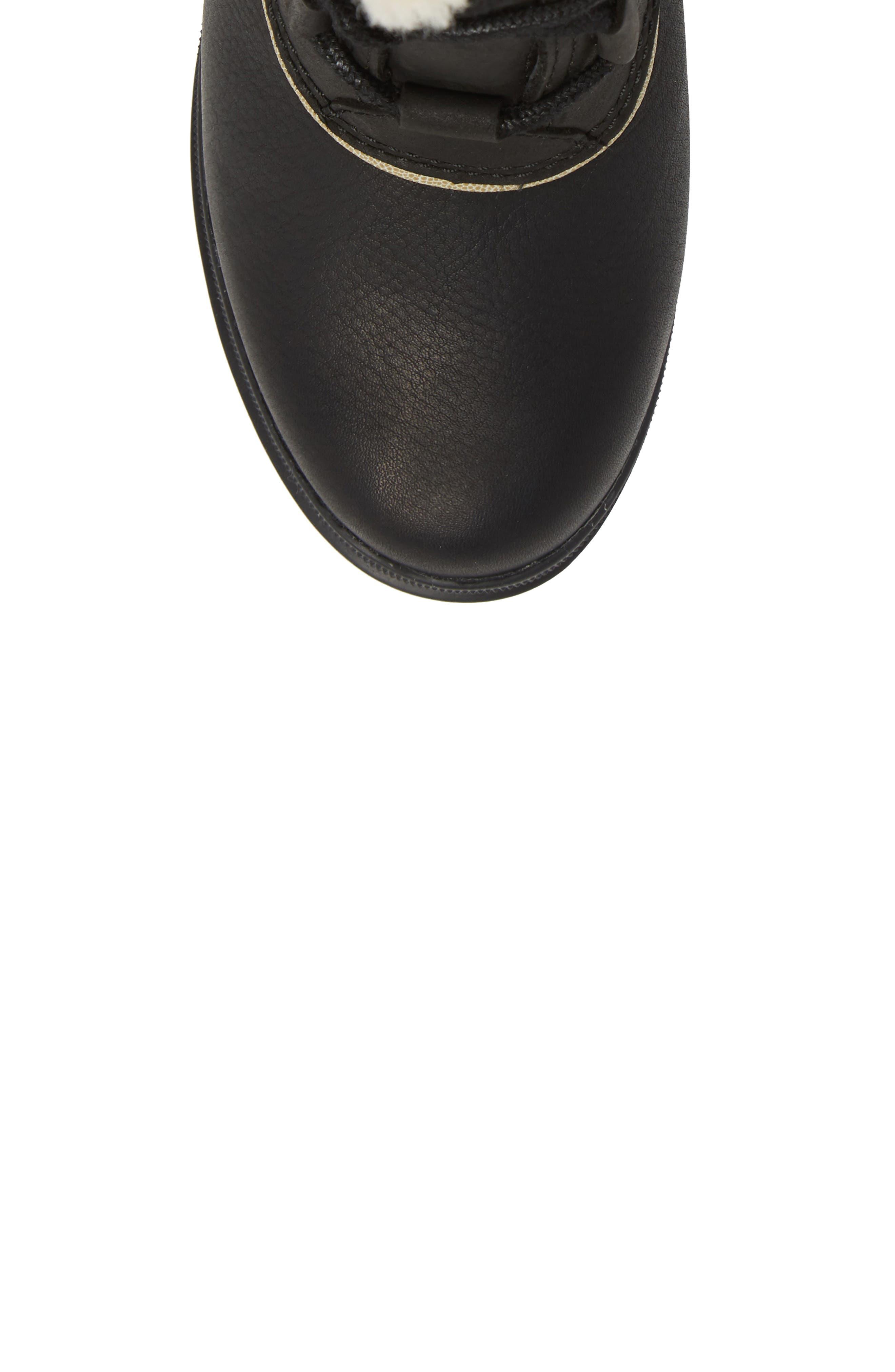 SOREL,                             Dacie Genuine Shearling Cuff Waterproof Boot,                             Alternate thumbnail 5, color,                             010