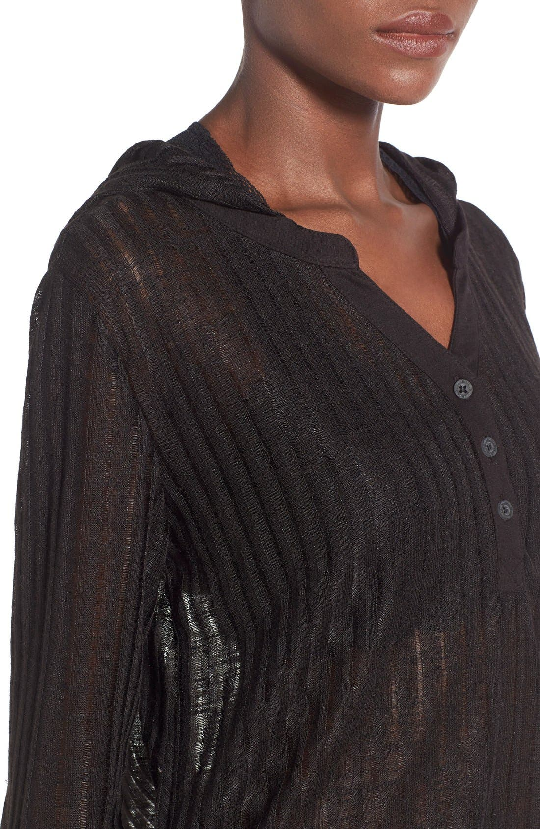 Lovechild Hooded Cover-Up Top,                             Alternate thumbnail 7, color,