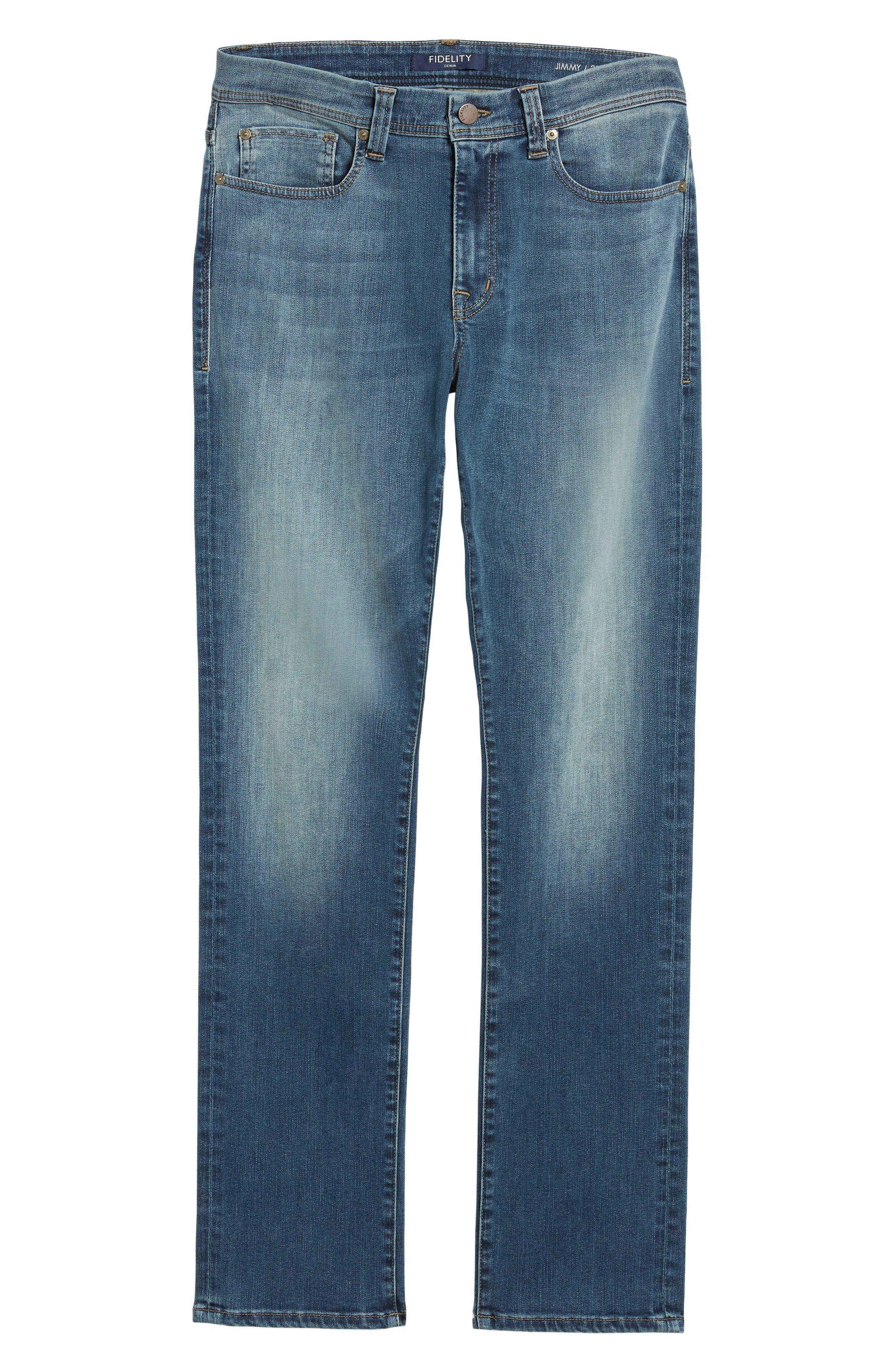 Jimmy Slim Straight Leg Jeans,                             Alternate thumbnail 6, color,                             FOSTER