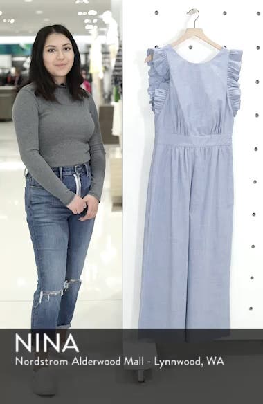 Ruffle Sleeve Crop Jumpsuit, sales video thumbnail