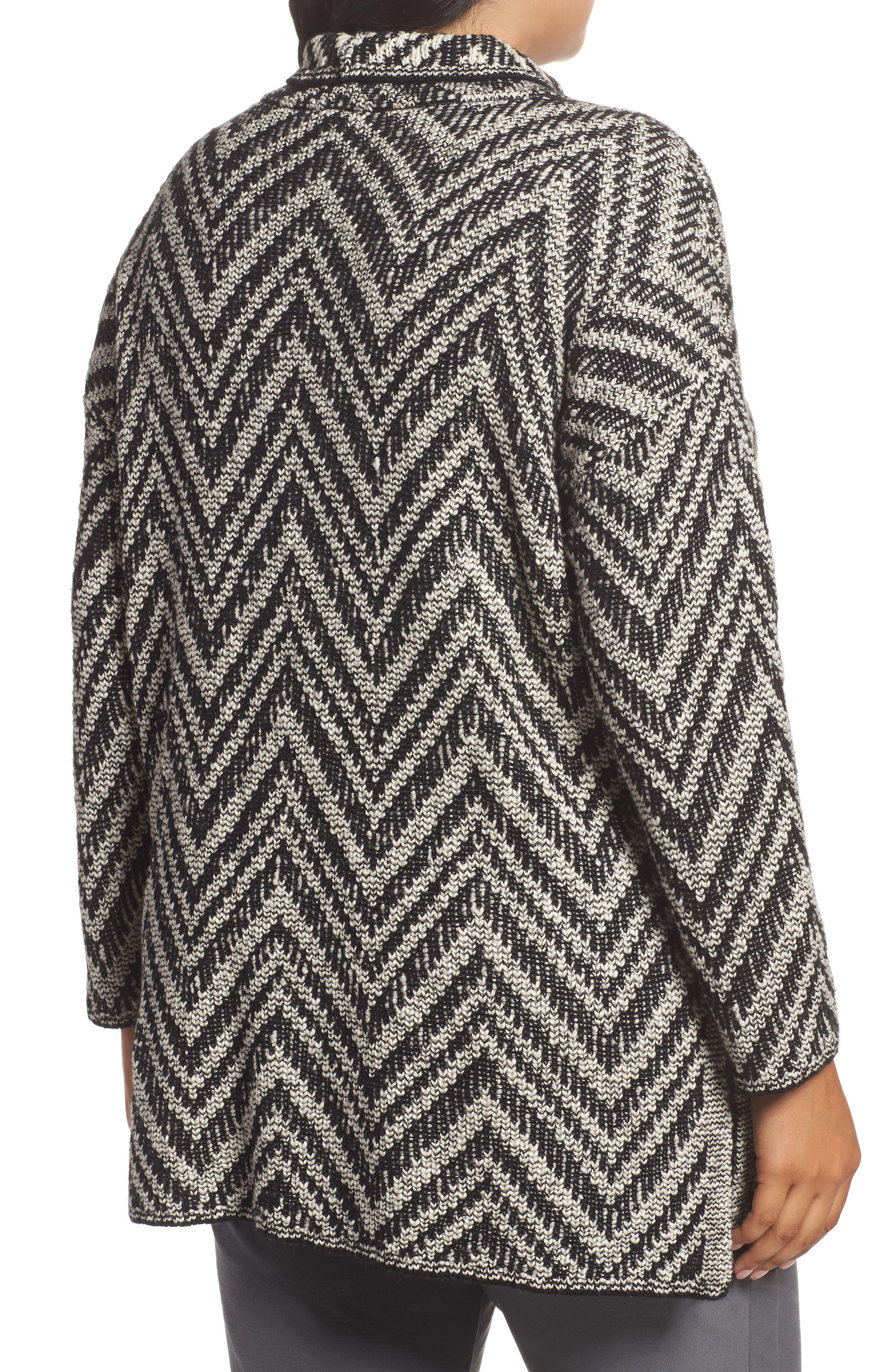 Zigzag Organic Cotton & Alpaca Tunic Sweater,                             Alternate thumbnail 2, color,                             012