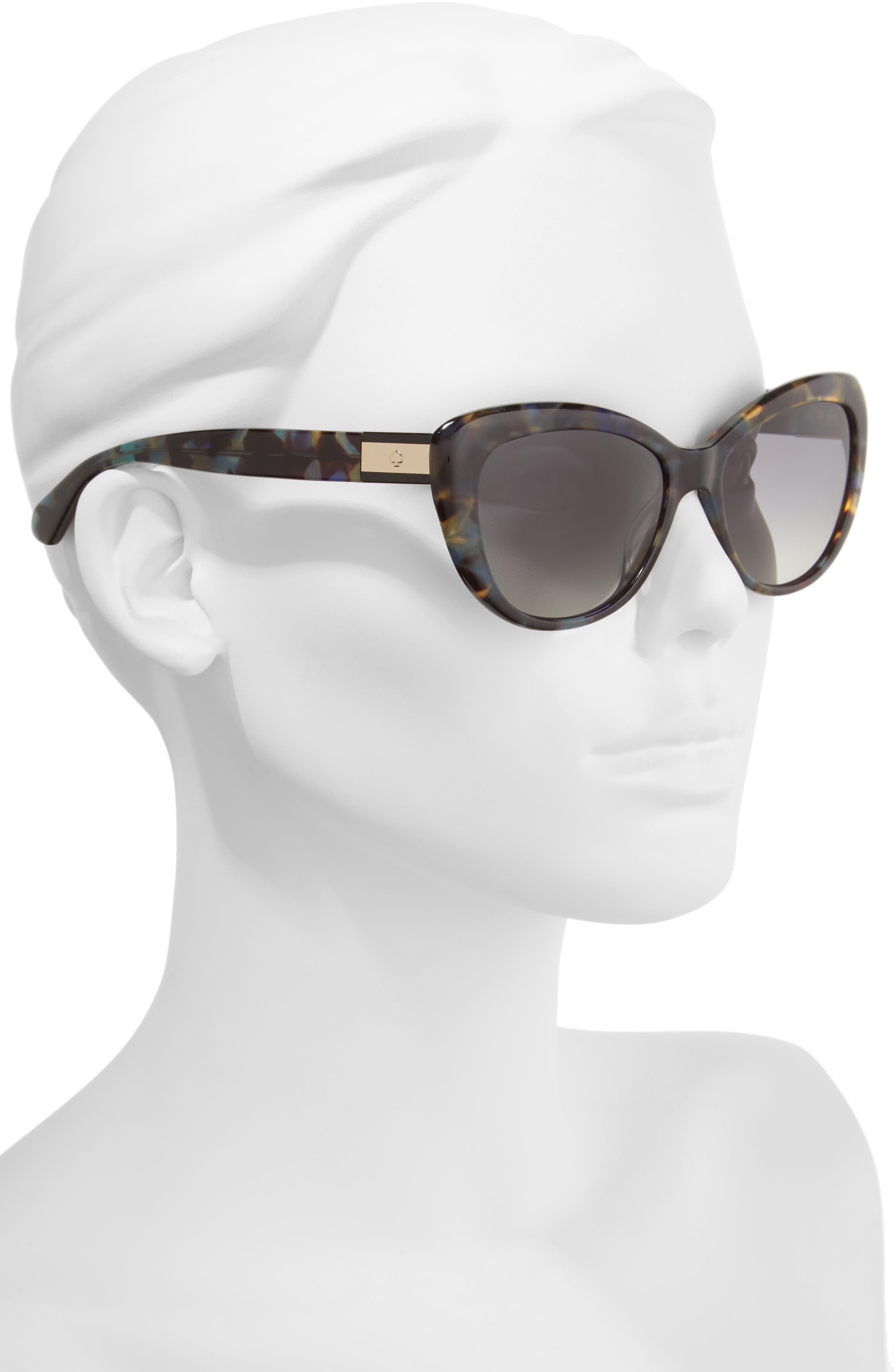 emmalyn 54mm polarized cat eye sunglasses,                             Alternate thumbnail 2, color,                             BLUE HAVANA