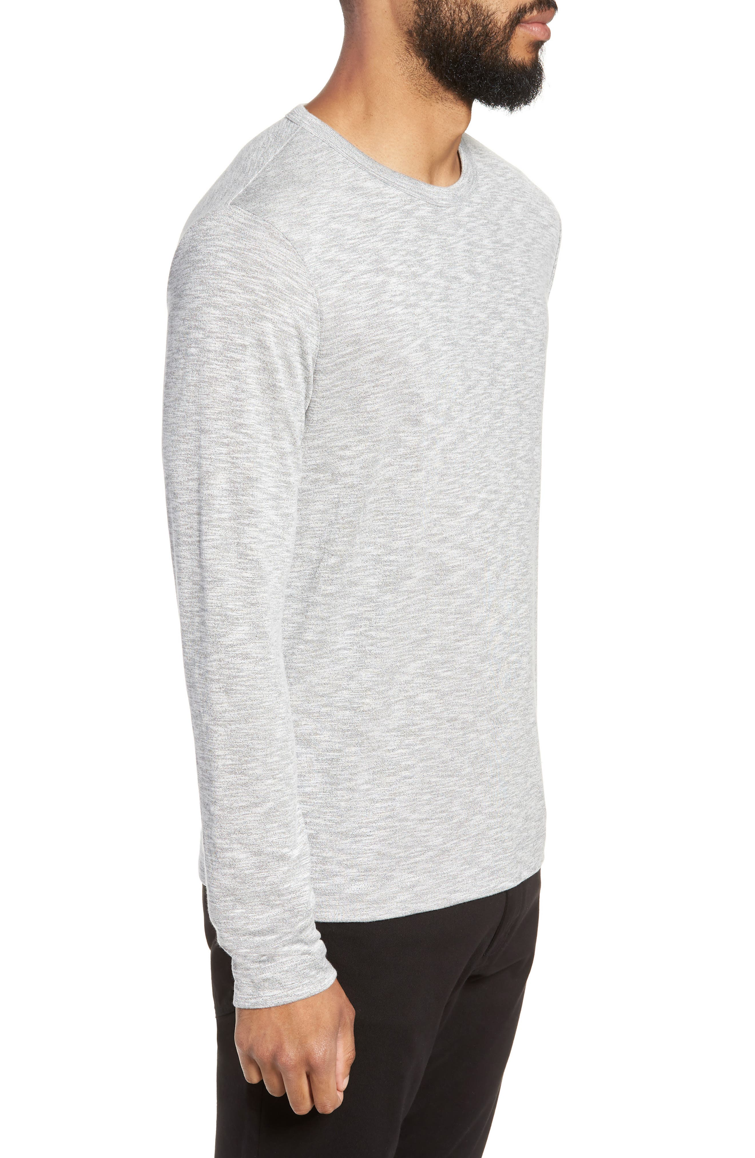 Gaskell Regular Fit Long Sleeve T-Shirt,                             Alternate thumbnail 3, color,                             GREY MULTI