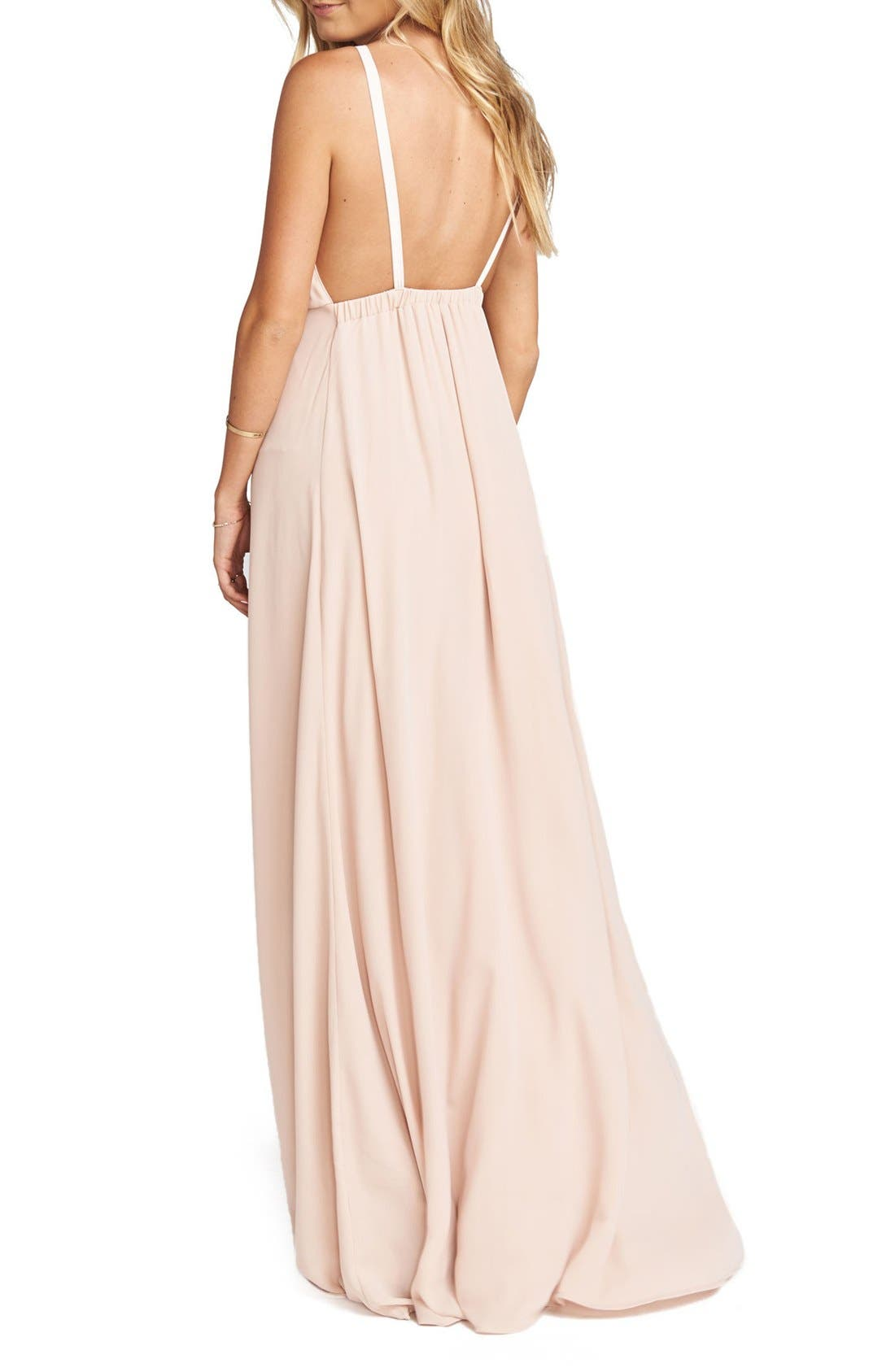Amanda Open Back Blouson Gown,                             Alternate thumbnail 12, color,