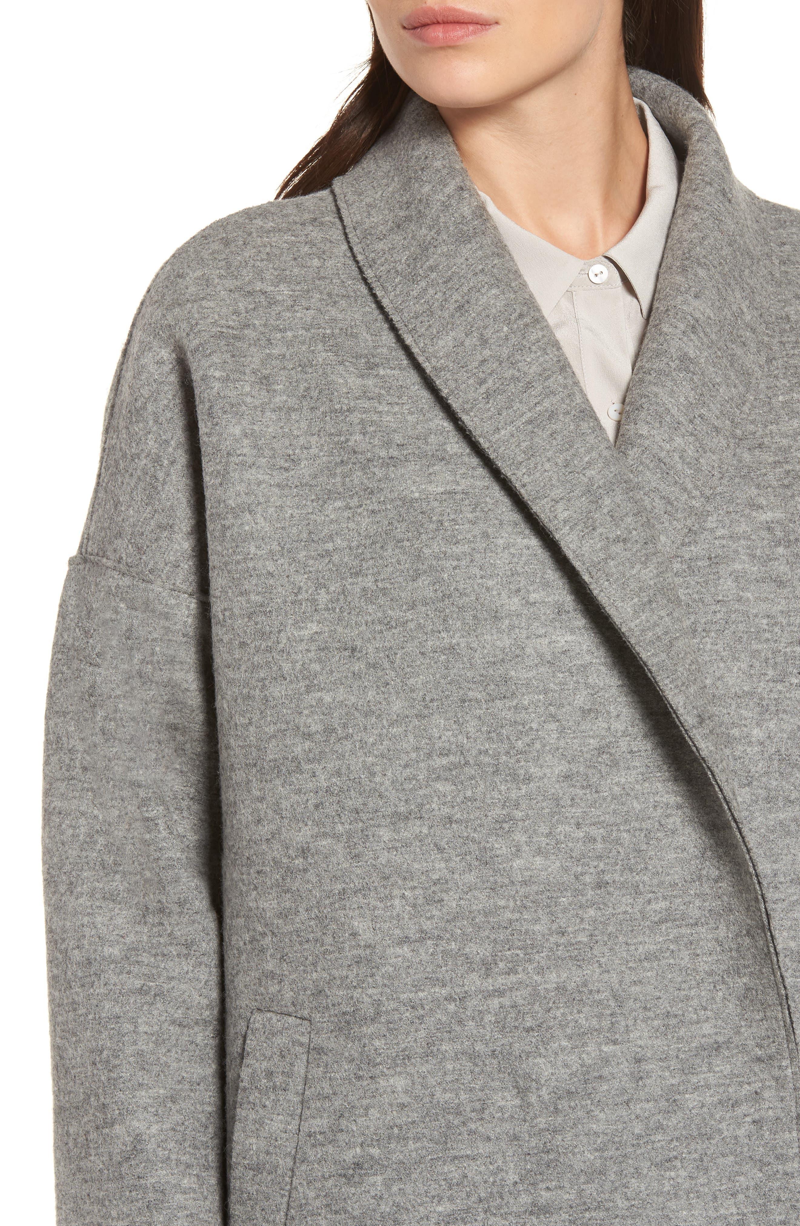 Emma Boiled Wool Coat,                             Alternate thumbnail 4, color,                             020