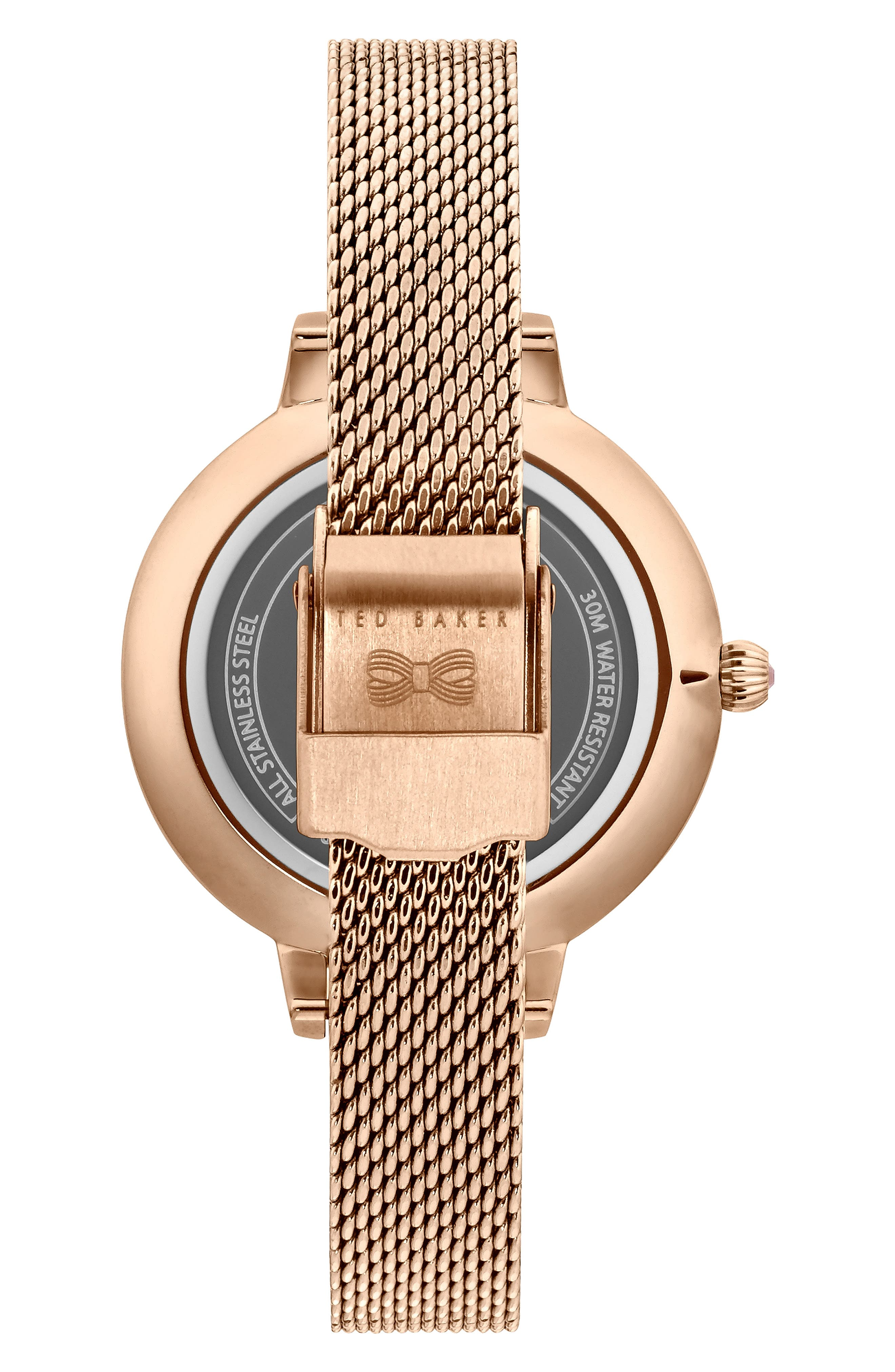 Kate Mesh Strap Watch, 32mm,                             Alternate thumbnail 2, color,                             ROSE GOLD/ MOP/ ROSE GOLD