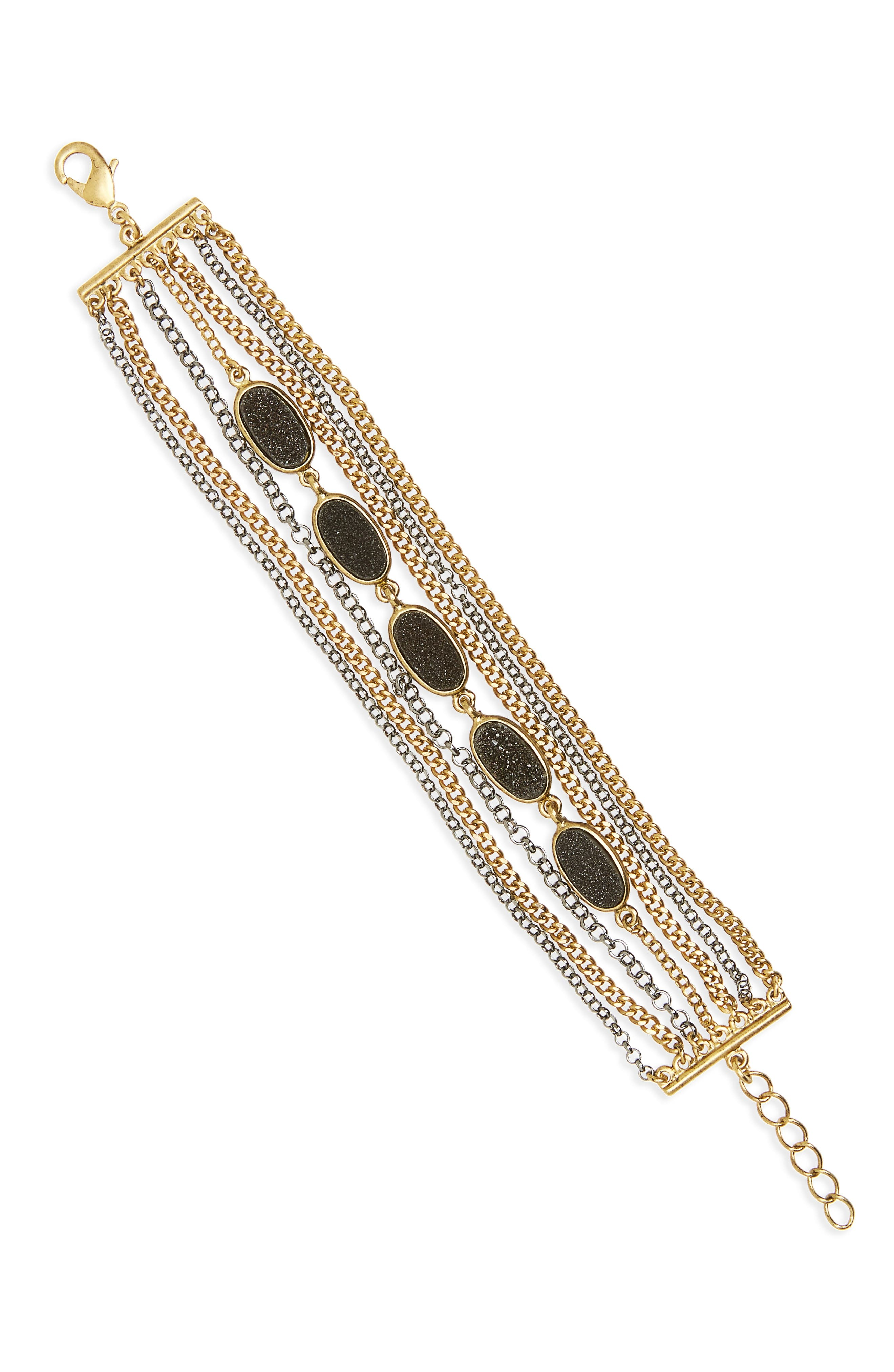 Multistrand Drusy Braclet,                         Main,                         color, 001