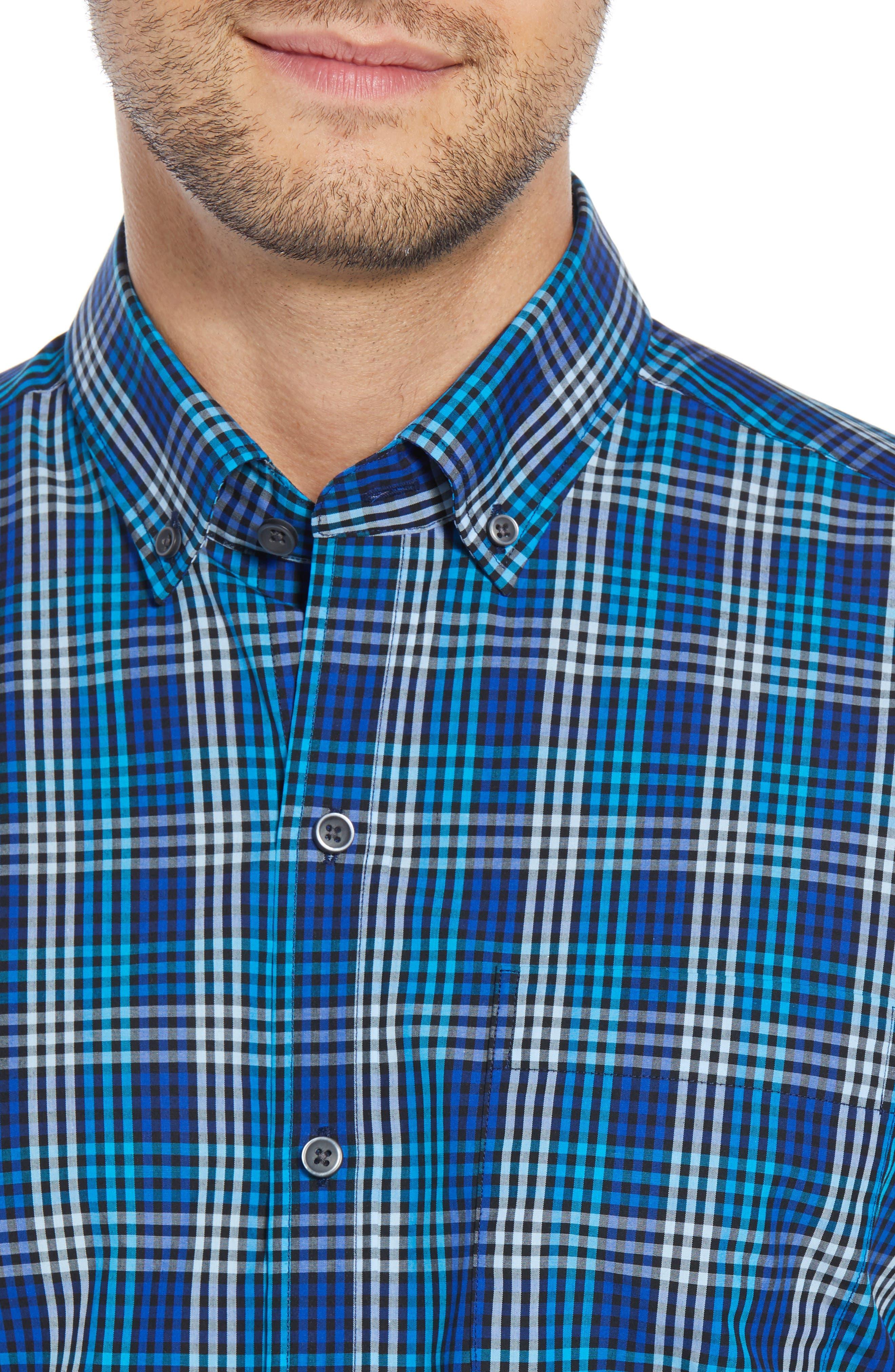 Regular Fit Non-Iron Sport Shirt,                             Alternate thumbnail 2, color,                             ORBIT
