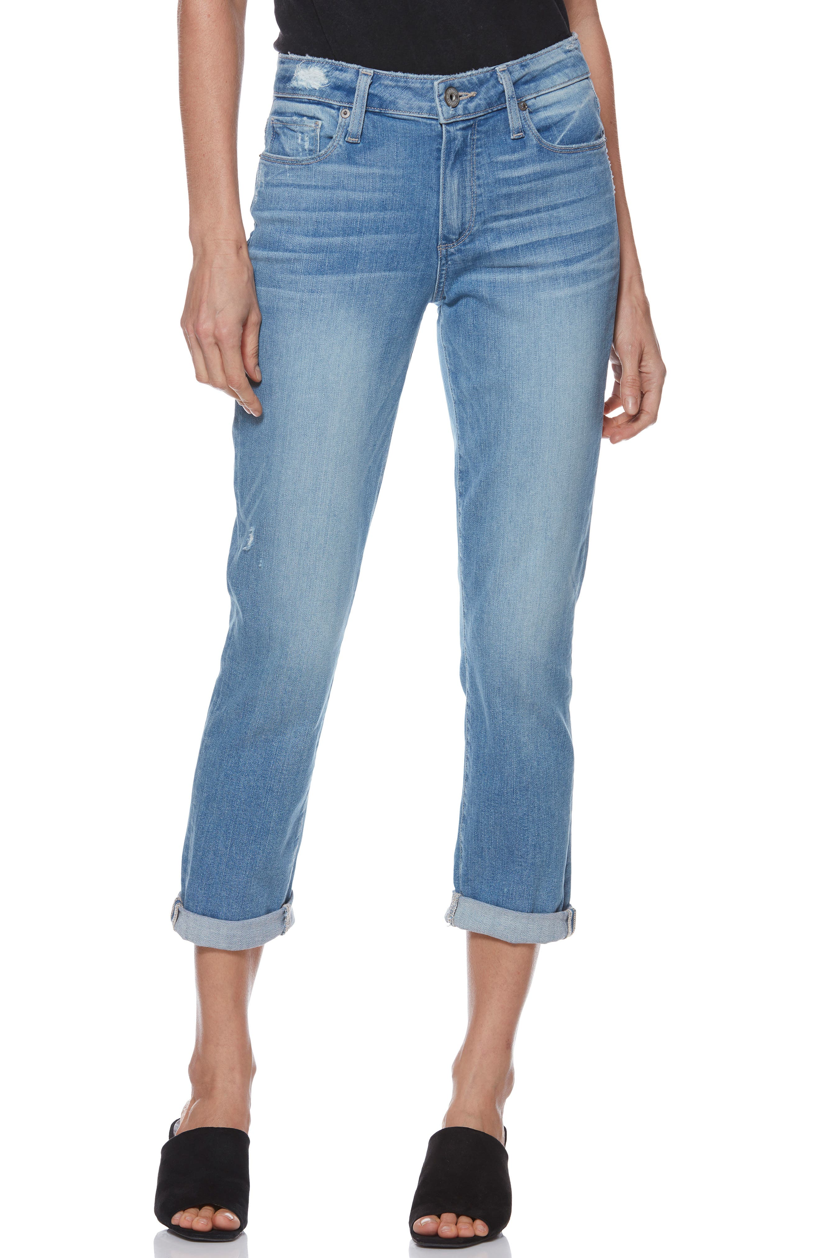 Transcend Vintage - Jimmy Jimmy High Waist Crop Boyfriend Jeans,                         Main,                         color, ATTERBURY