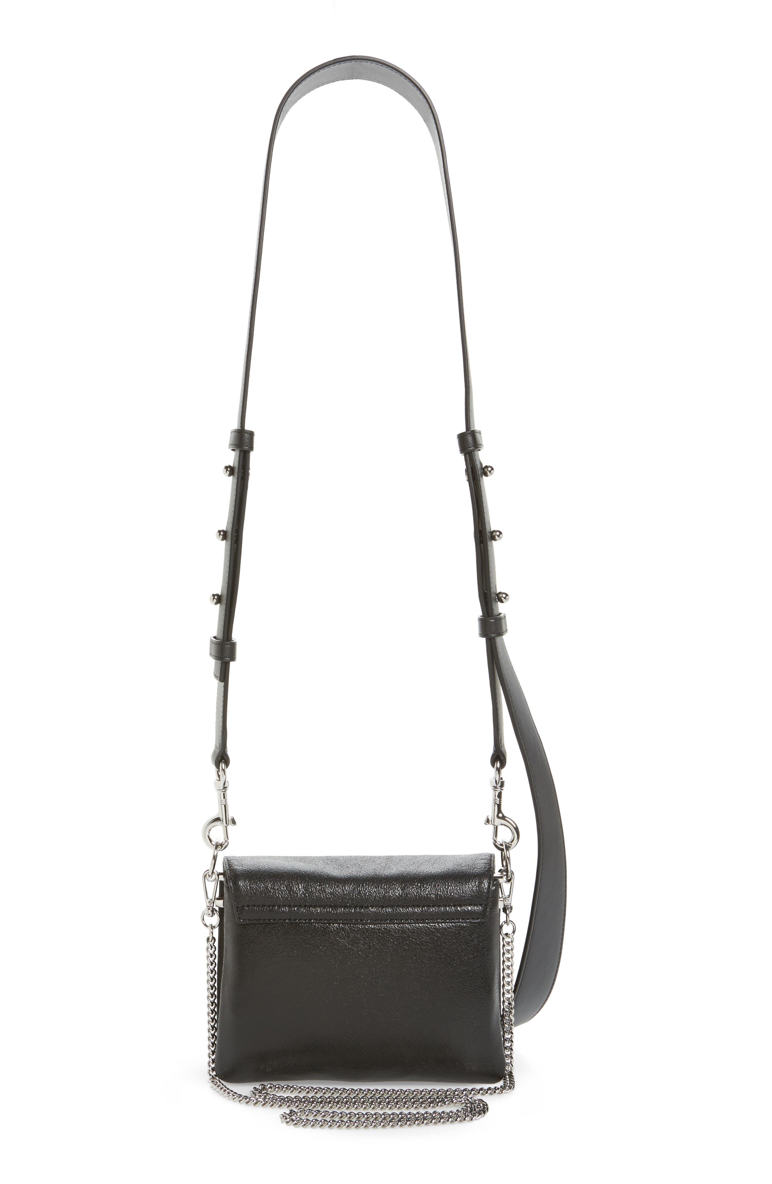 Zep Leather Shoulder Bag,                             Alternate thumbnail 3, color,                             001