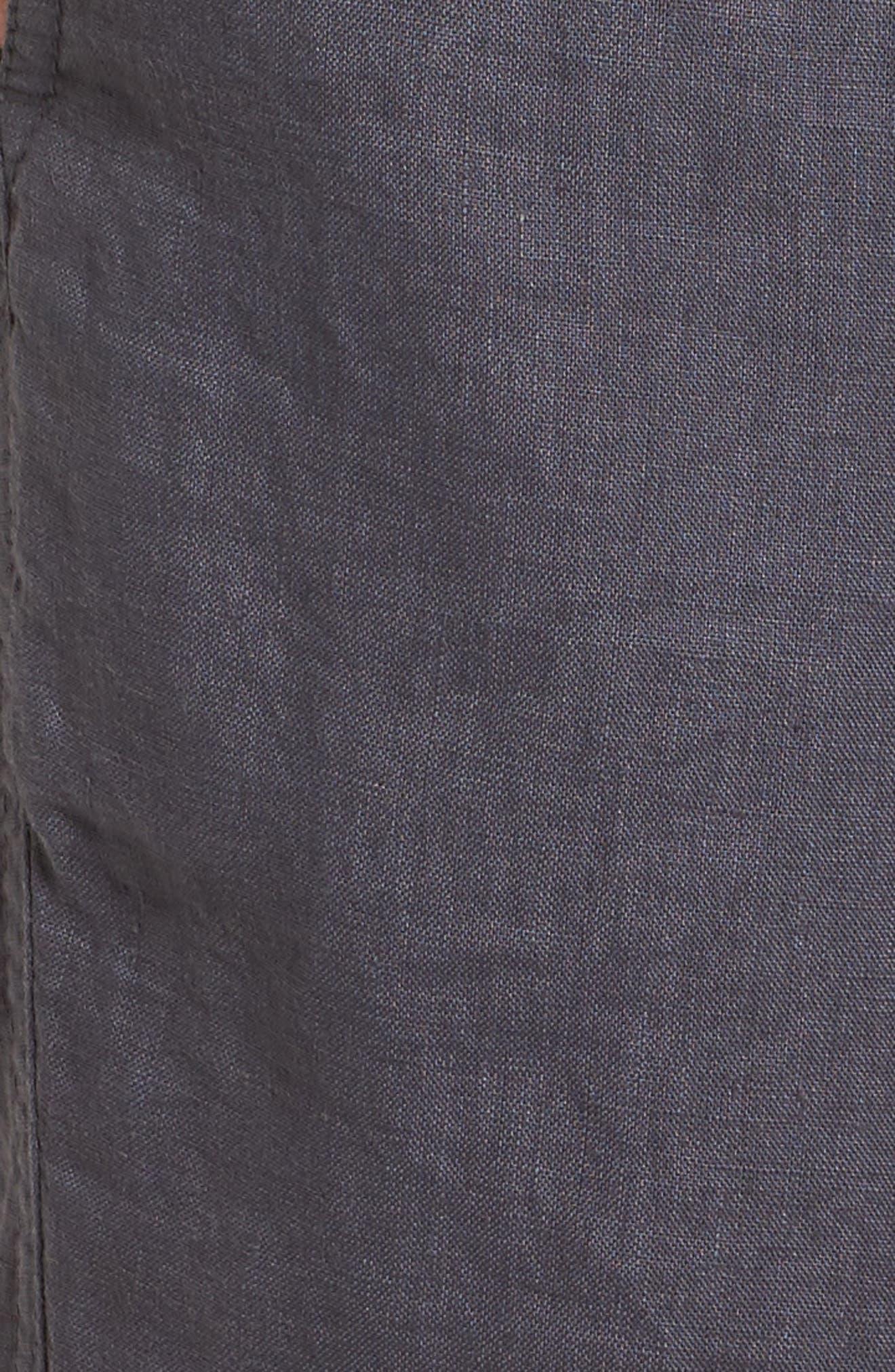 Linen Crop Pants,                             Alternate thumbnail 30, color,