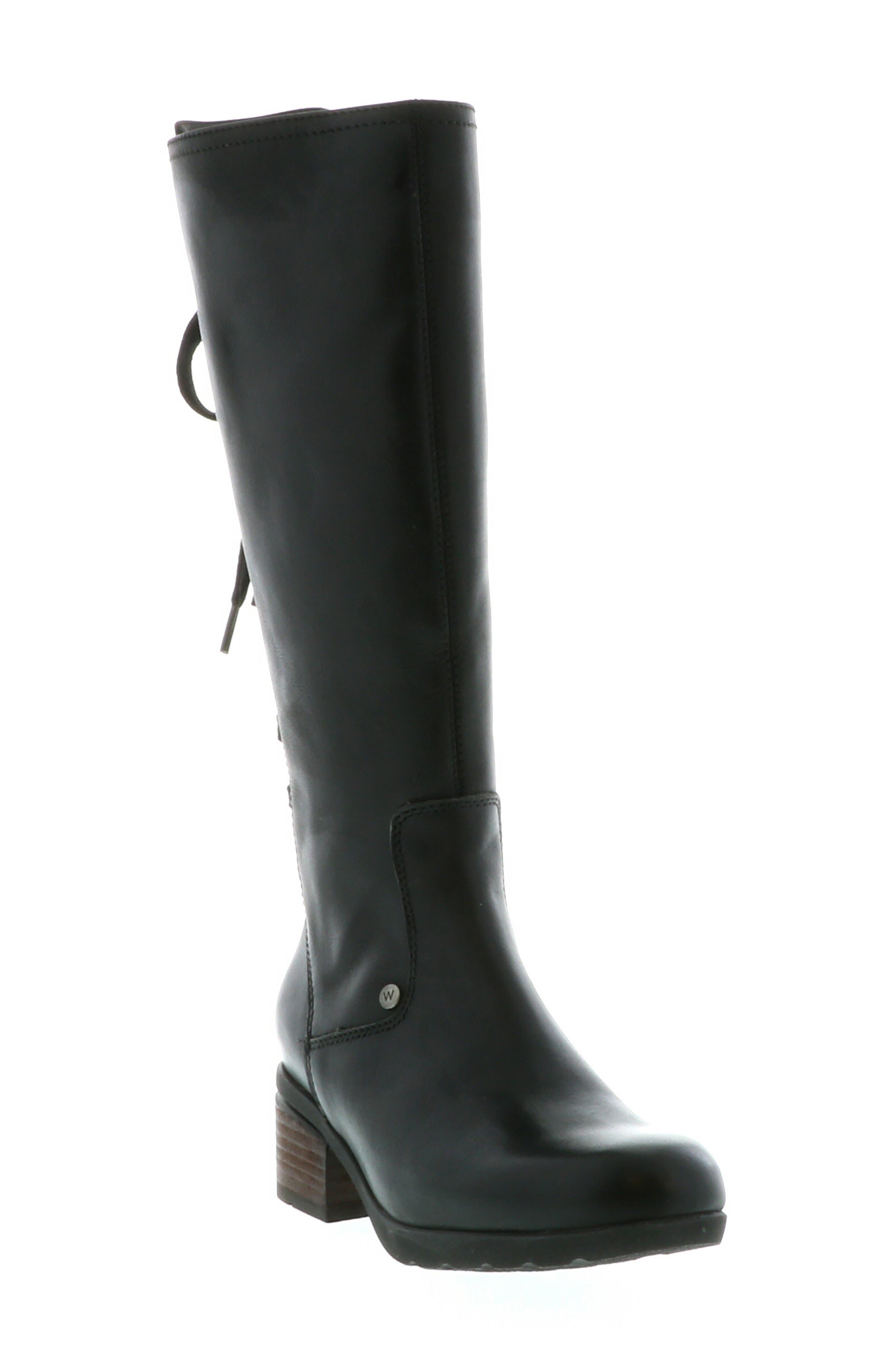 Wolky Hayen Knee High Boot, Black