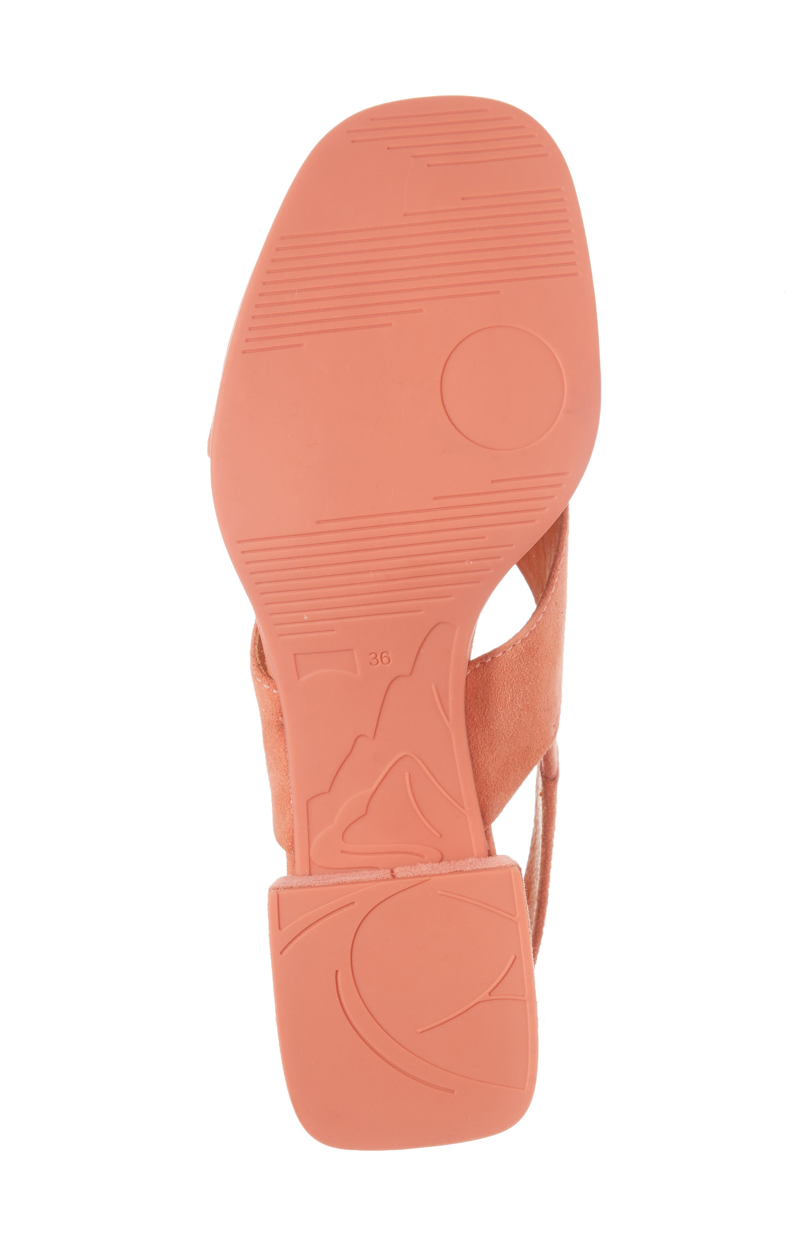 Kobo Cross Strap Sandal,                             Alternate thumbnail 6, color,                             MEDIUM PINK LEATHER