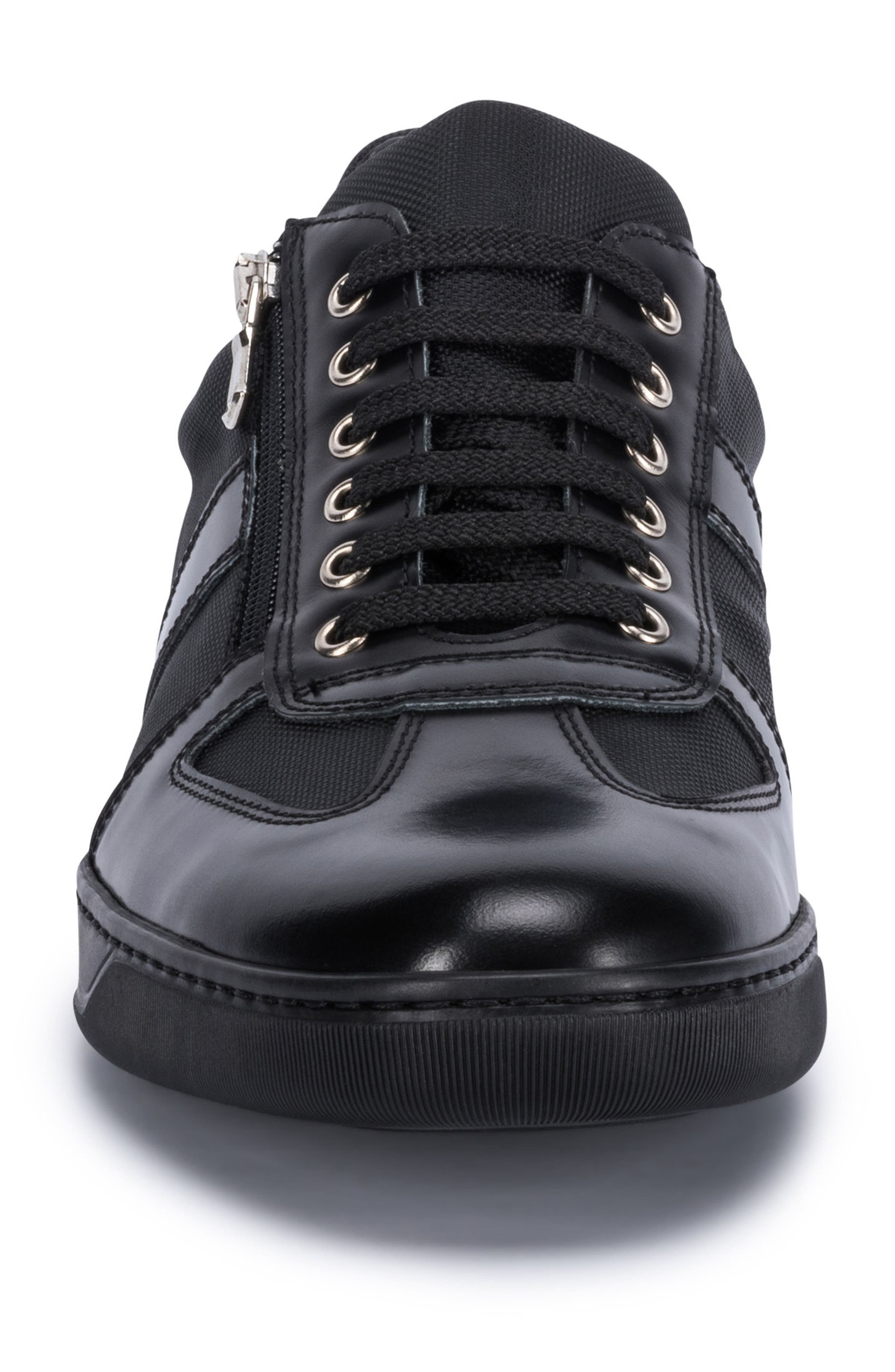 Paris Sneaker,                             Alternate thumbnail 4, color,                             BLACK