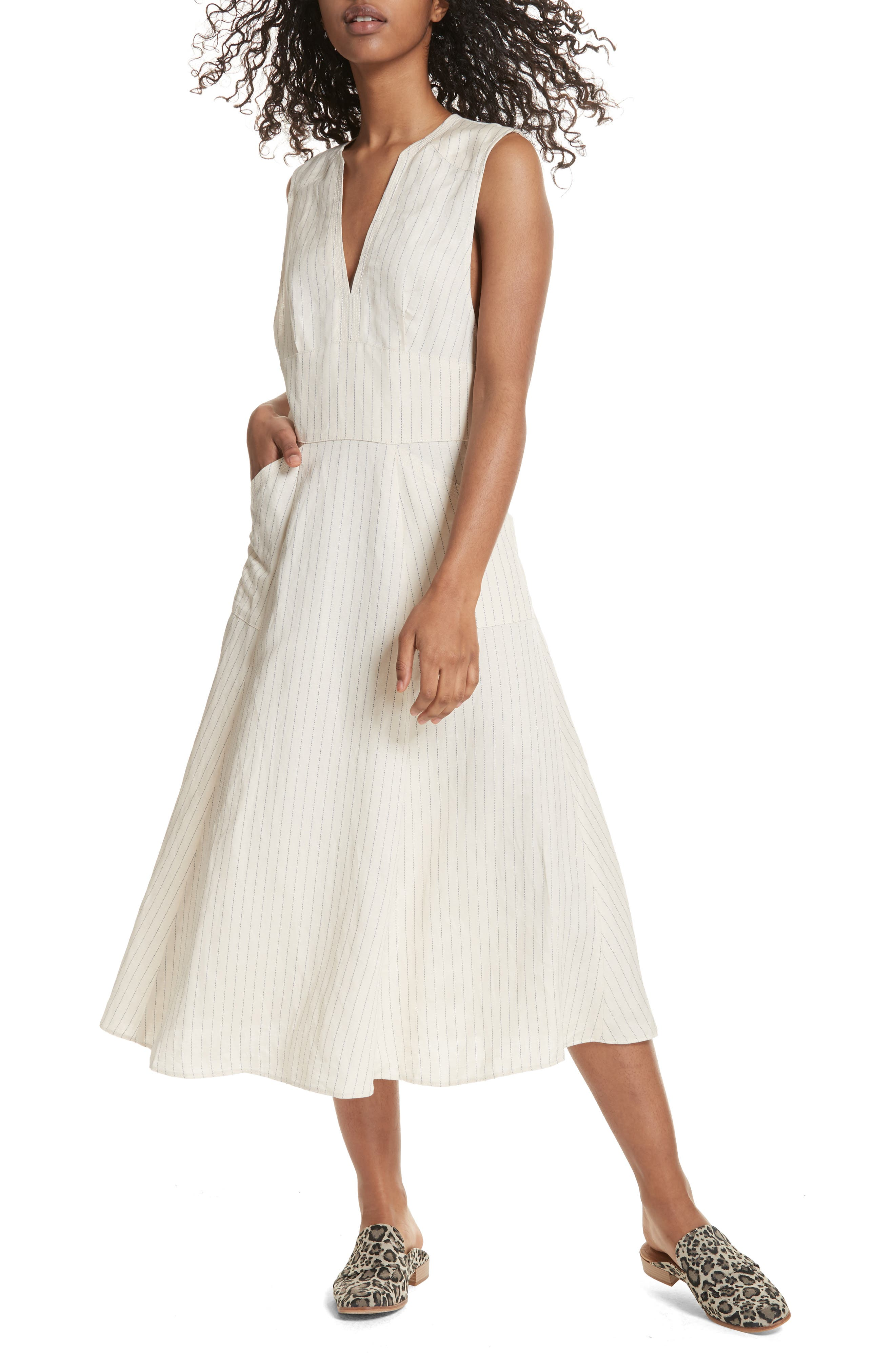 Pretty Daze Midi Dress,                             Alternate thumbnail 5, color,