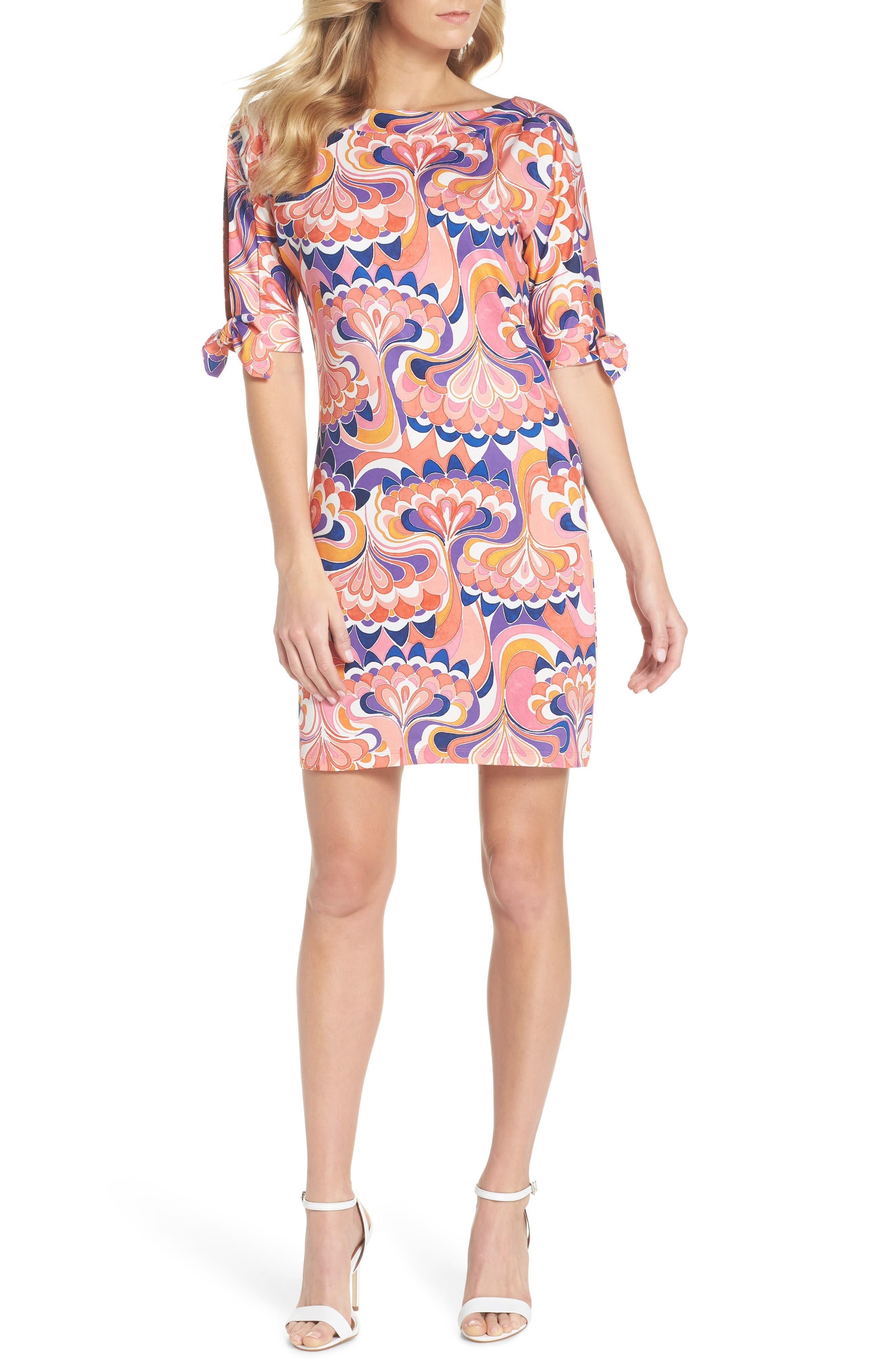 Vinet Floral Jersey Dress,                             Main thumbnail 2, color,
