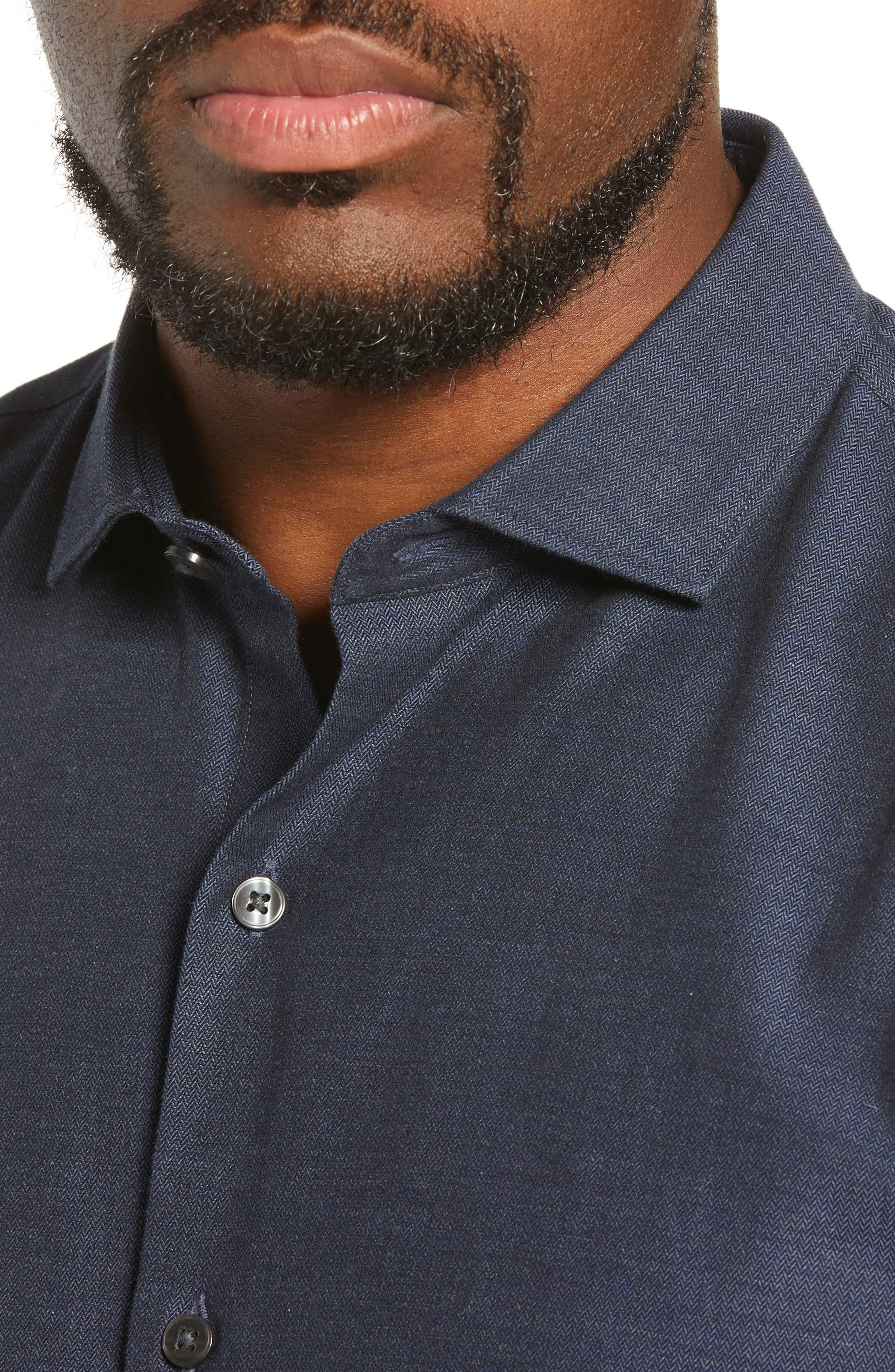 Unbutton Down Slim Fit Sport Shirt,                             Alternate thumbnail 2, color,                             400