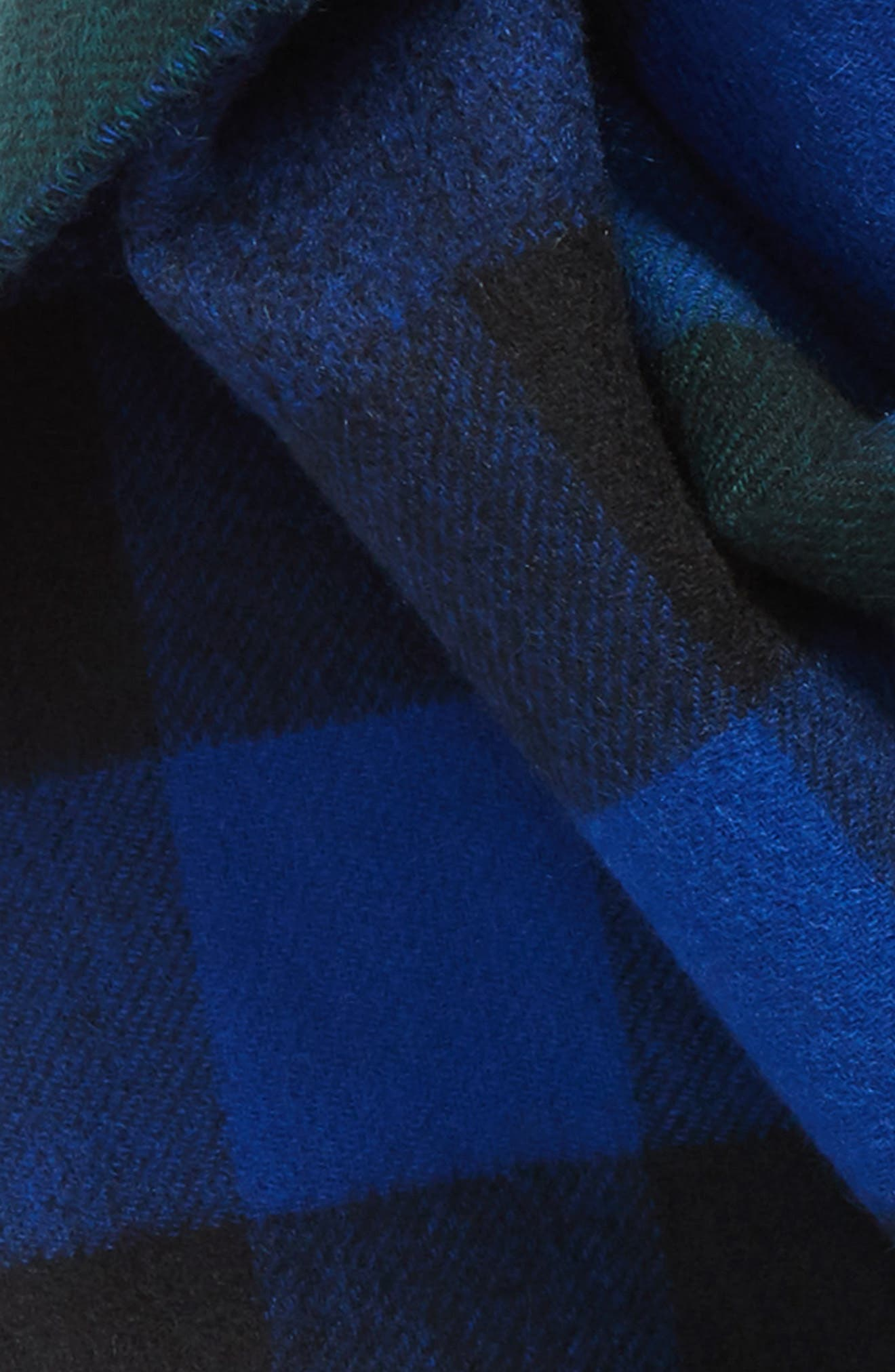 Reversible Mega Check Cashmere Scarf,                             Alternate thumbnail 3, color,                             377