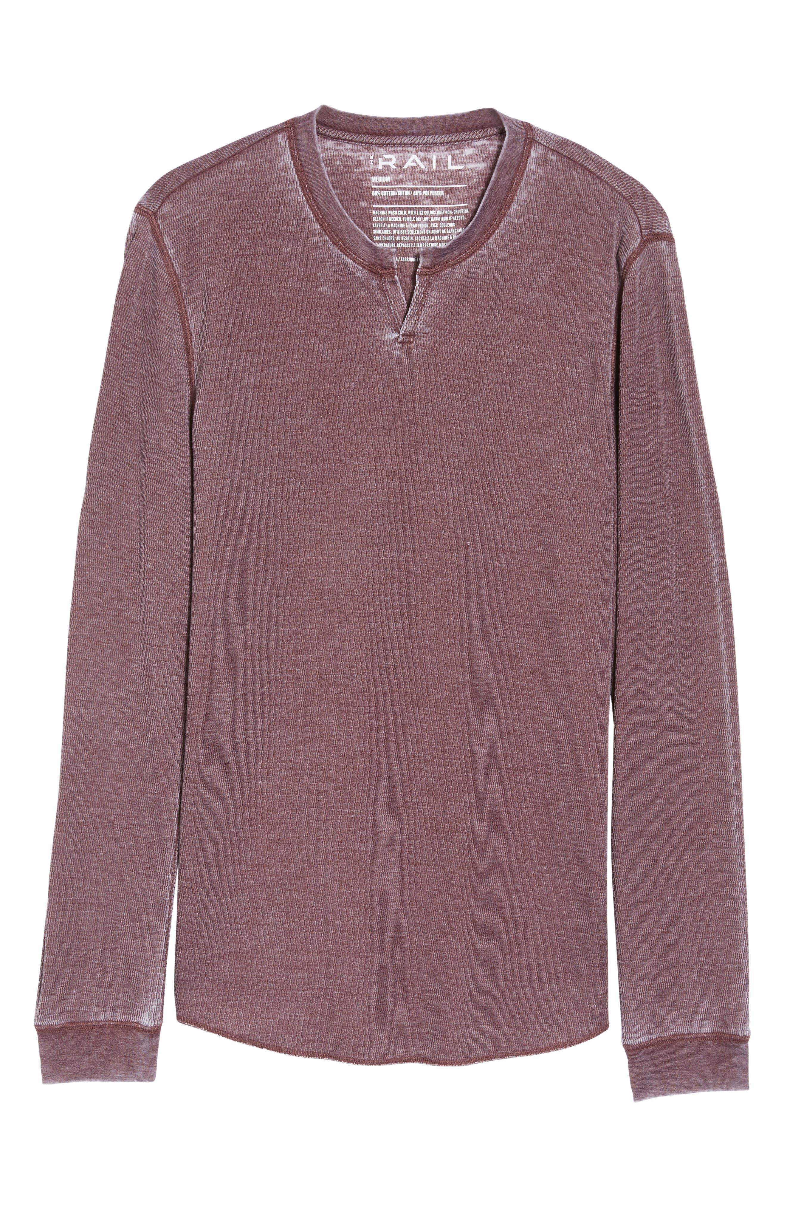 Notch Neck Thermal T-Shirt,                             Alternate thumbnail 42, color,