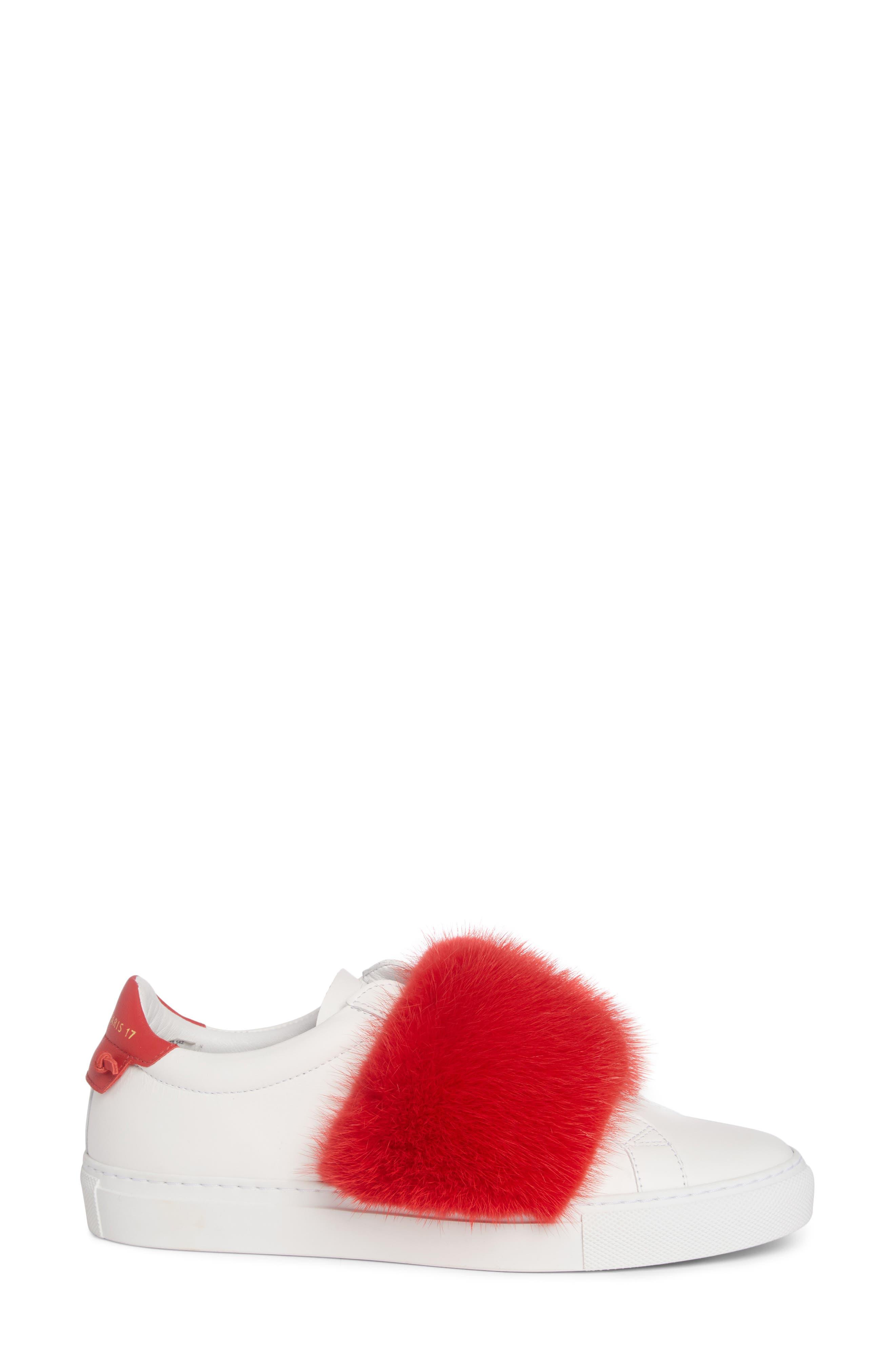Urban Street Slip-On Sneaker with Genuine Mink Fur Trim,                             Alternate thumbnail 11, color,