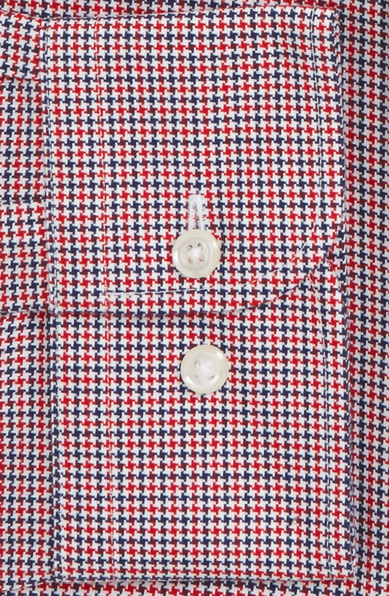 Smartcare<sup>™</sup> Traditional Fit Houndstooth Dress Shirt,                             Alternate thumbnail 12, color,