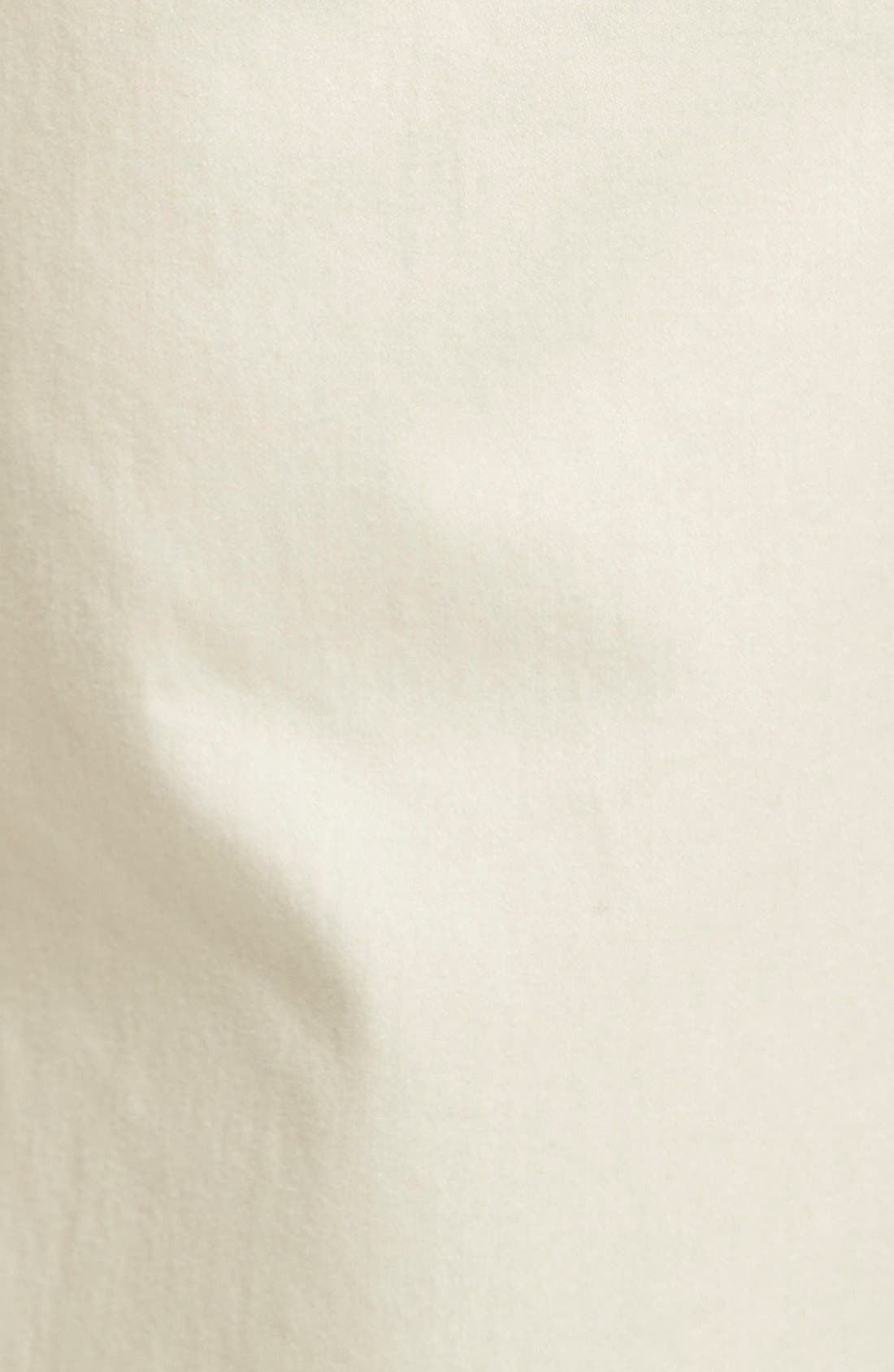 Flat Front Stretch Cotton Straight Leg Trousers,                             Alternate thumbnail 2, color,                             PAPER