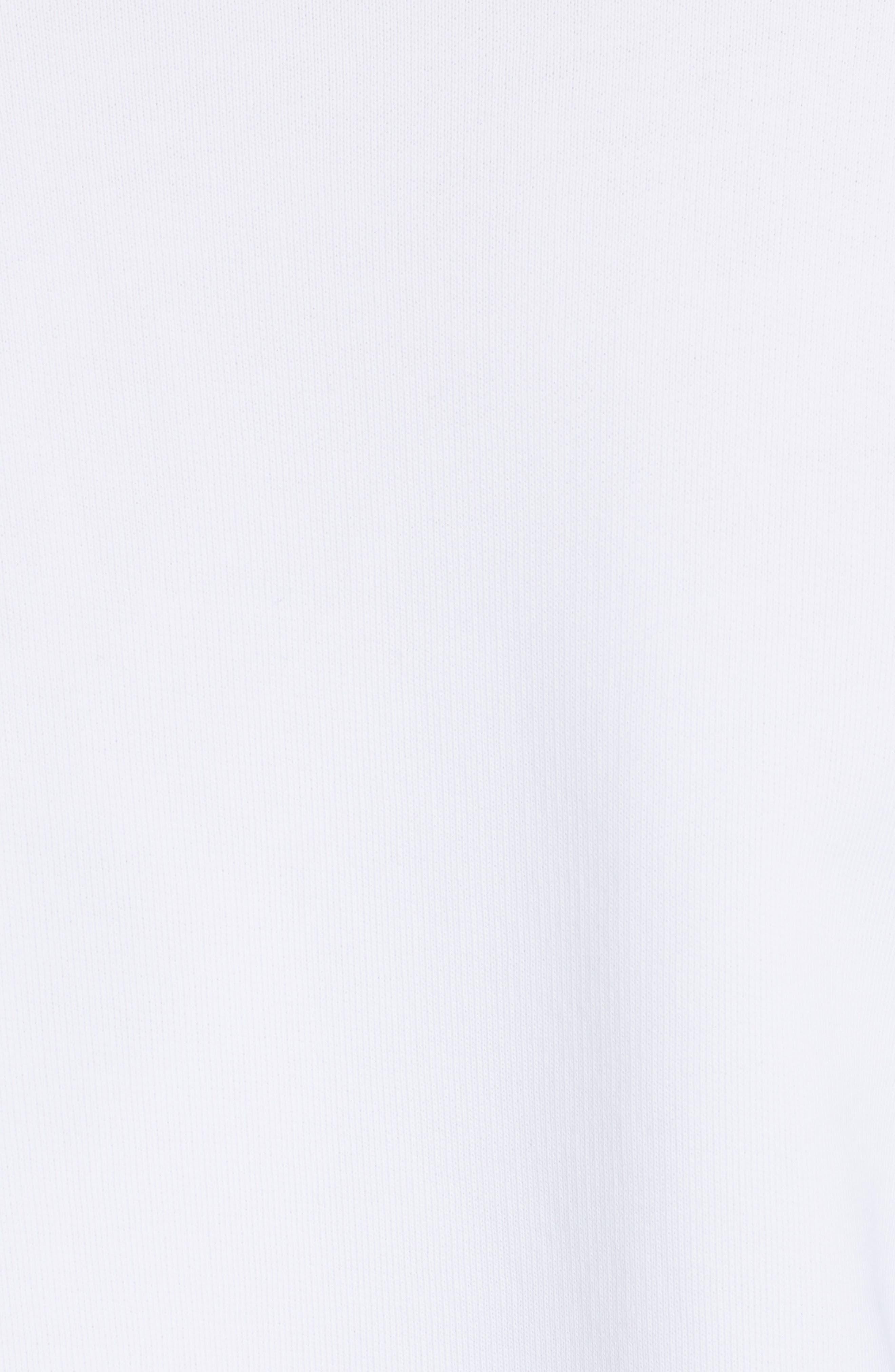 Denim Flutter Sleeve Cotton Top,                             Alternate thumbnail 5, color,                             101