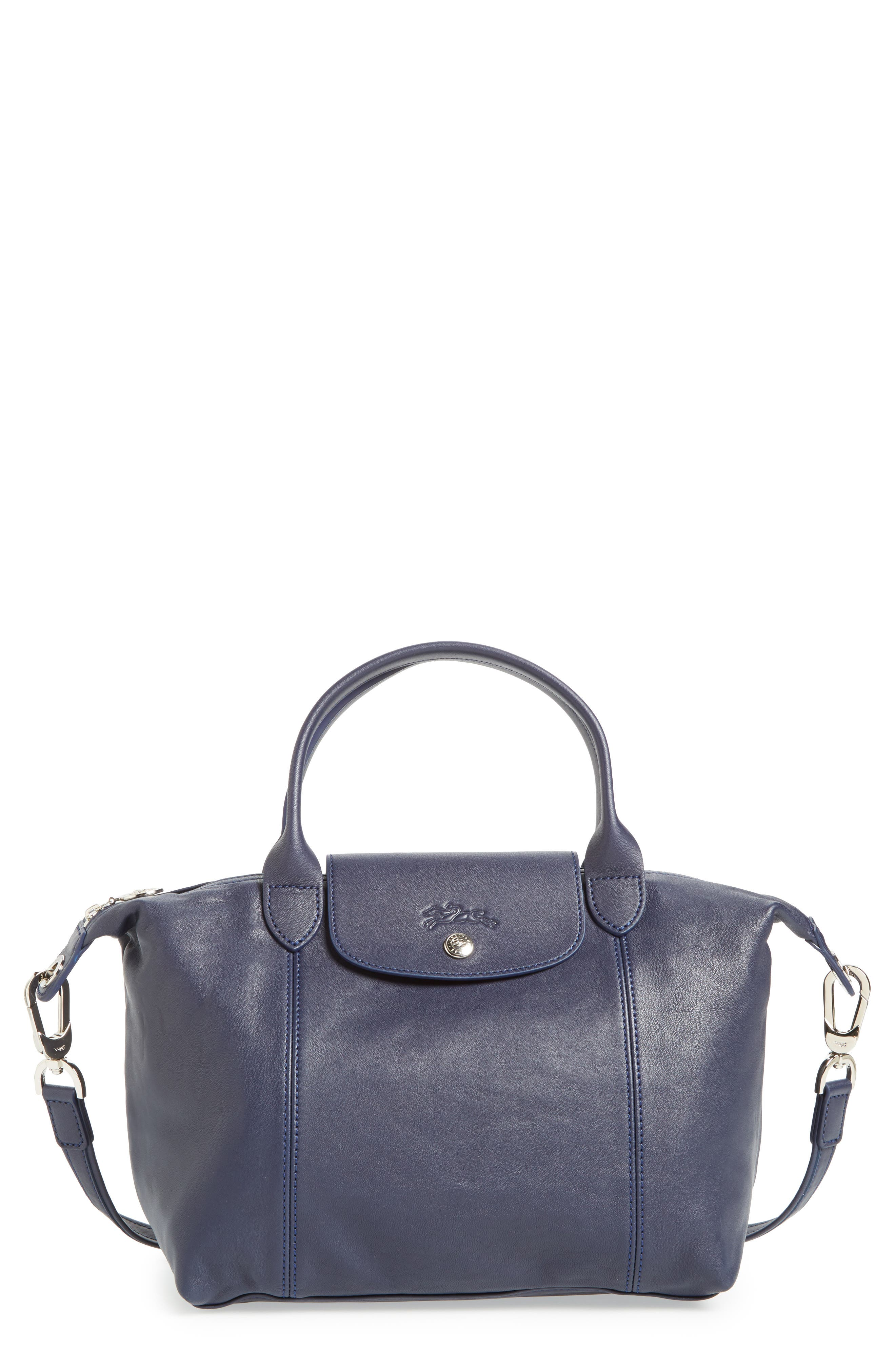 Small 'Le Pliage Cuir' Leather Top Handle Tote,                             Main thumbnail 15, color,