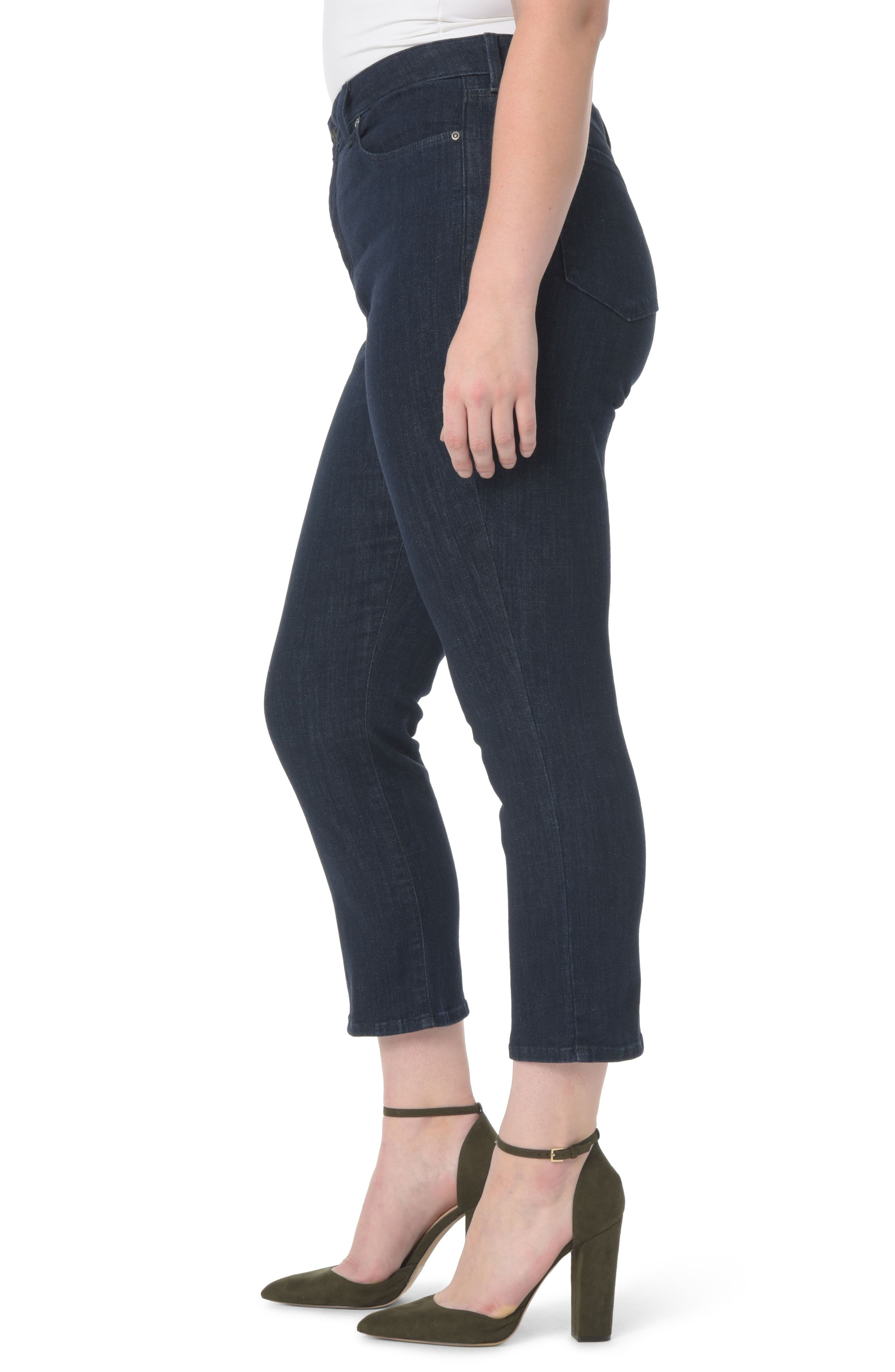 Marilyn Stretch Straight Leg Crop Jeans,                             Alternate thumbnail 3, color,                             402