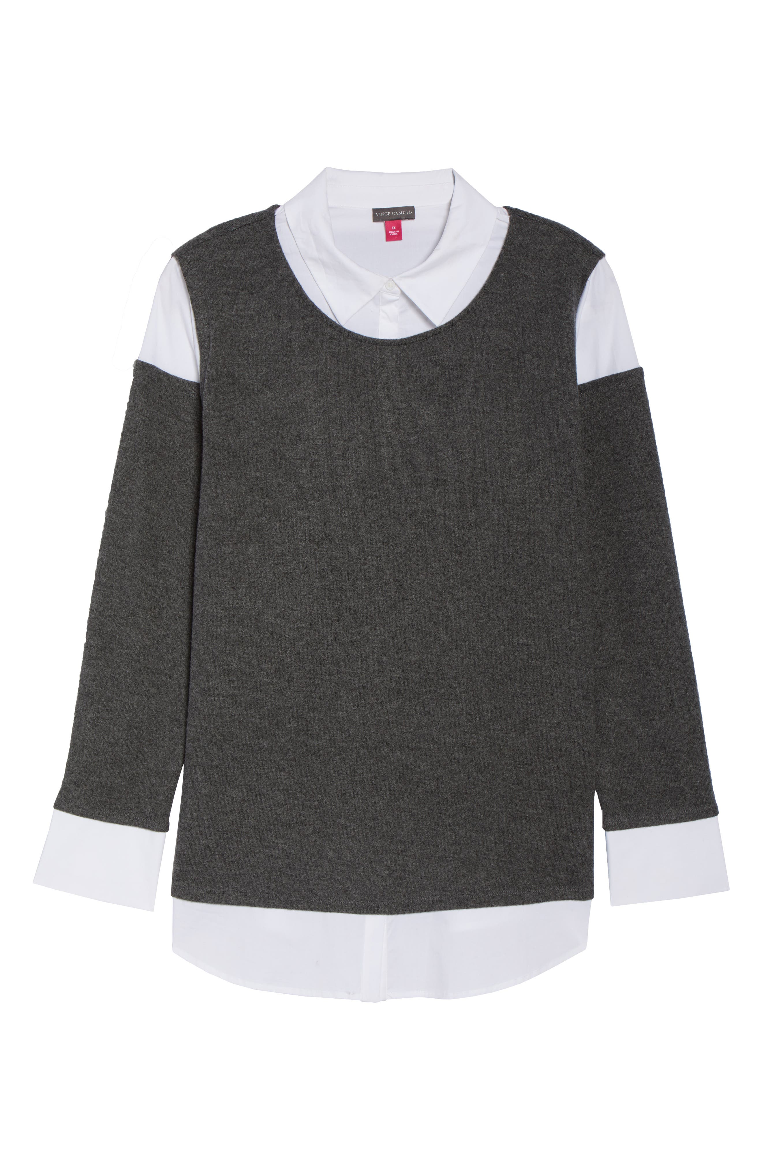 Mix Media Brushed Jersey Top,                             Alternate thumbnail 18, color,