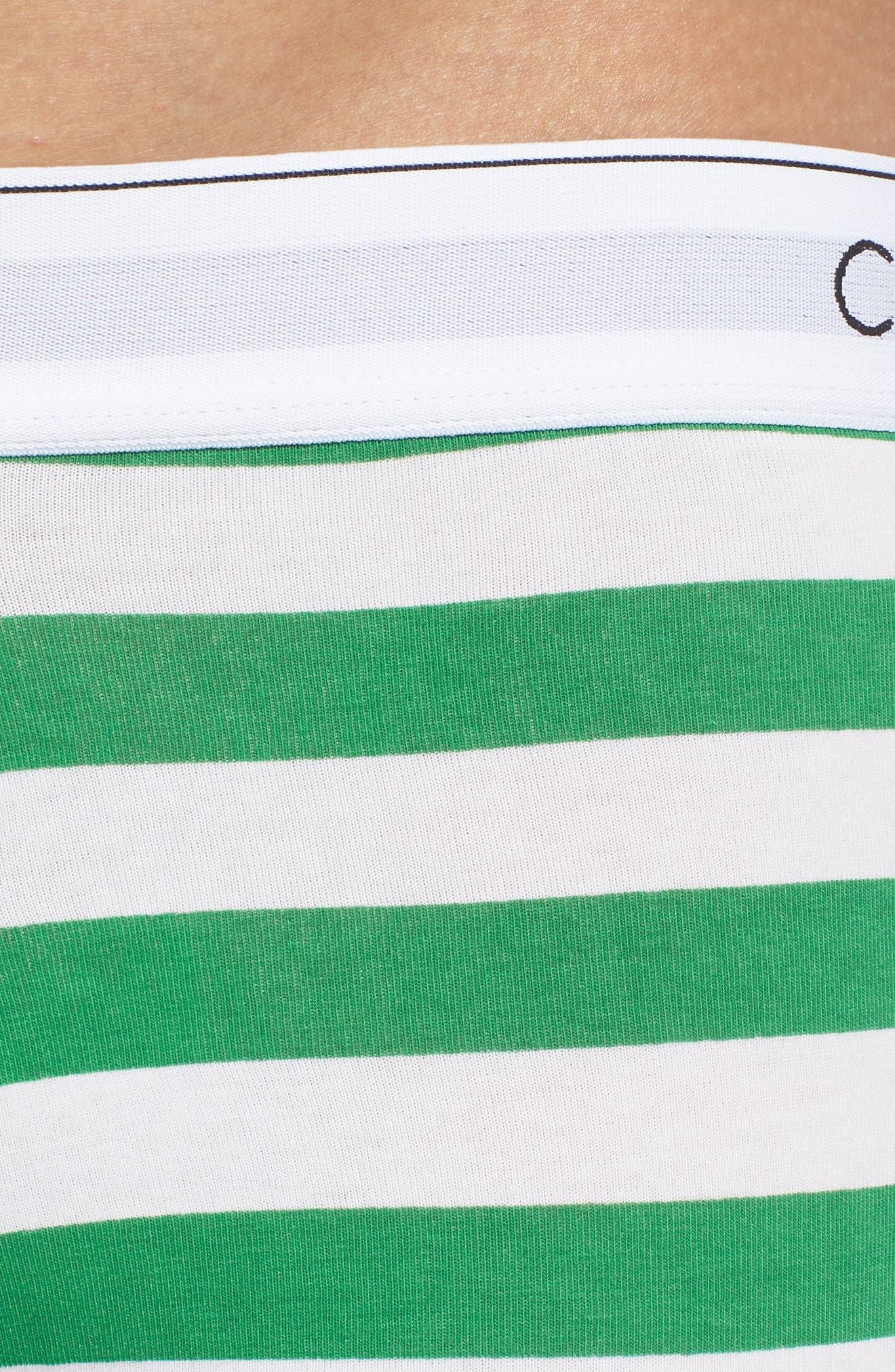 Stripe Trunks,                             Alternate thumbnail 4, color,                             PURE CERULEAN/ GREEN STIPE