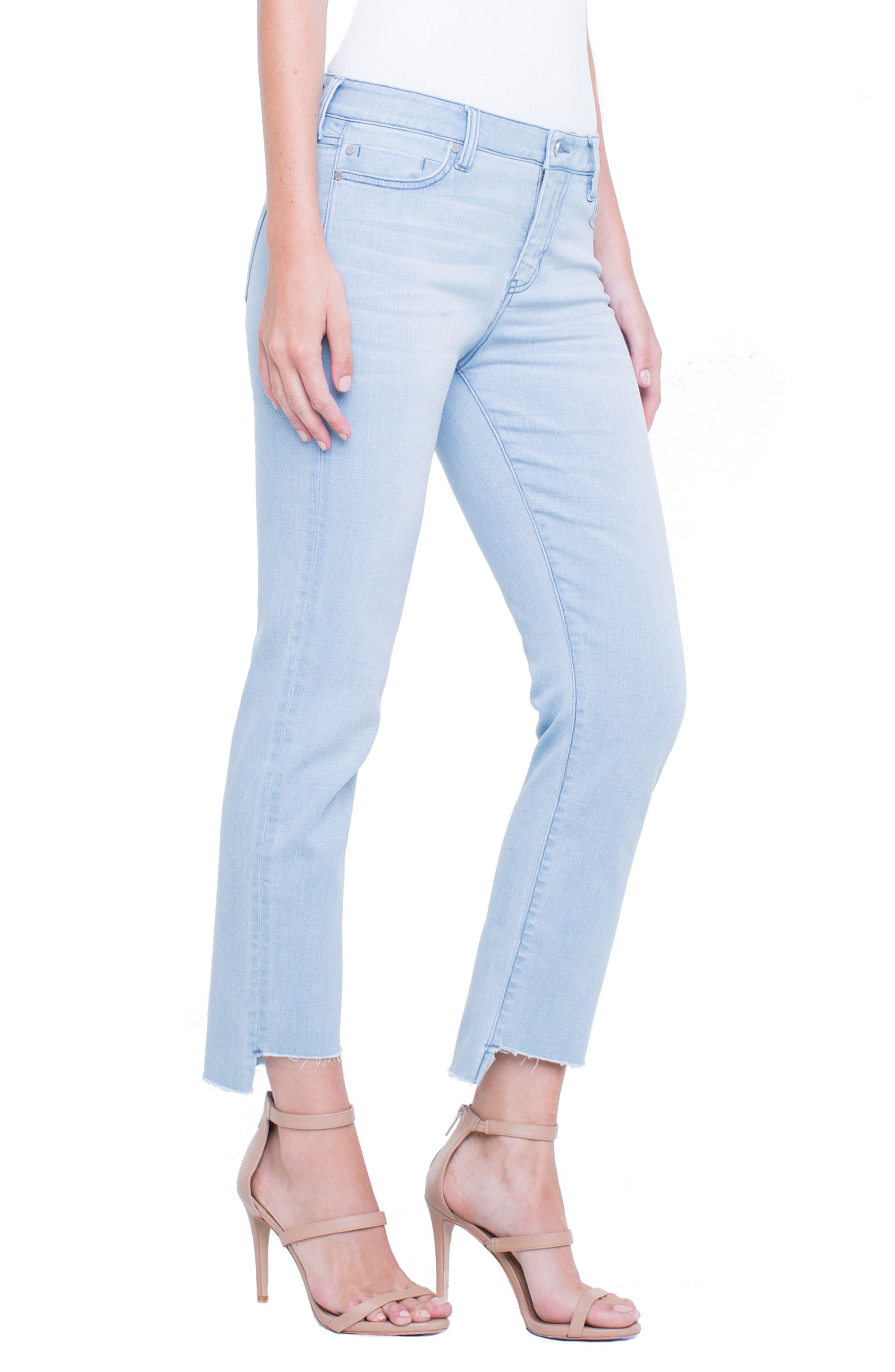 Jayden Crop Straight Leg Jeans,                             Alternate thumbnail 3, color,                             401