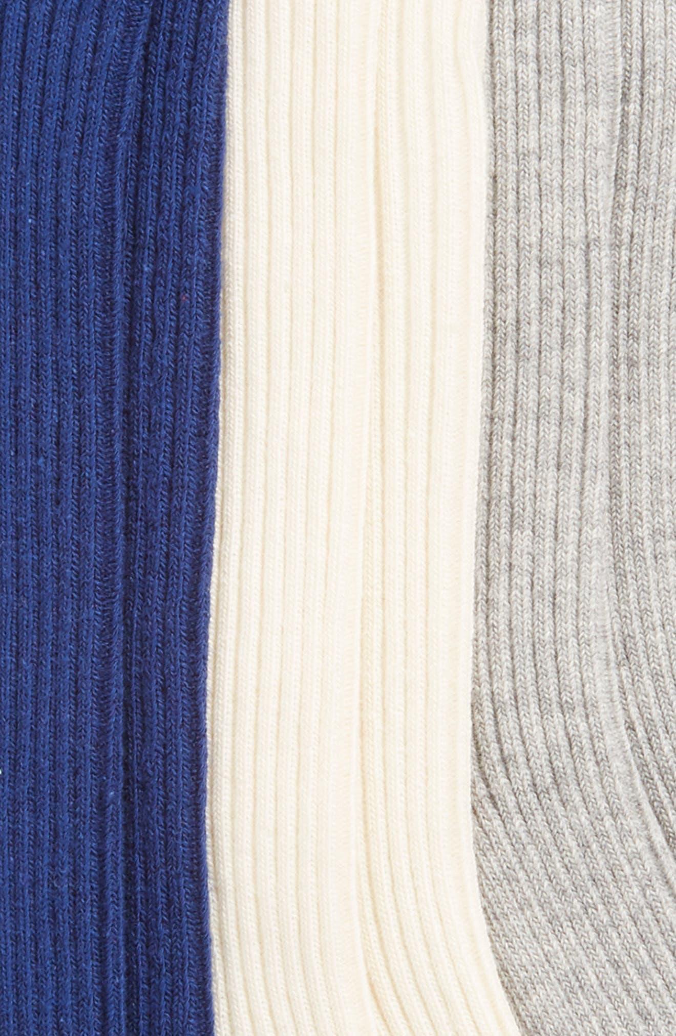 3-Pack Ribbed Knee-High Socks,                             Alternate thumbnail 2, color,                             400