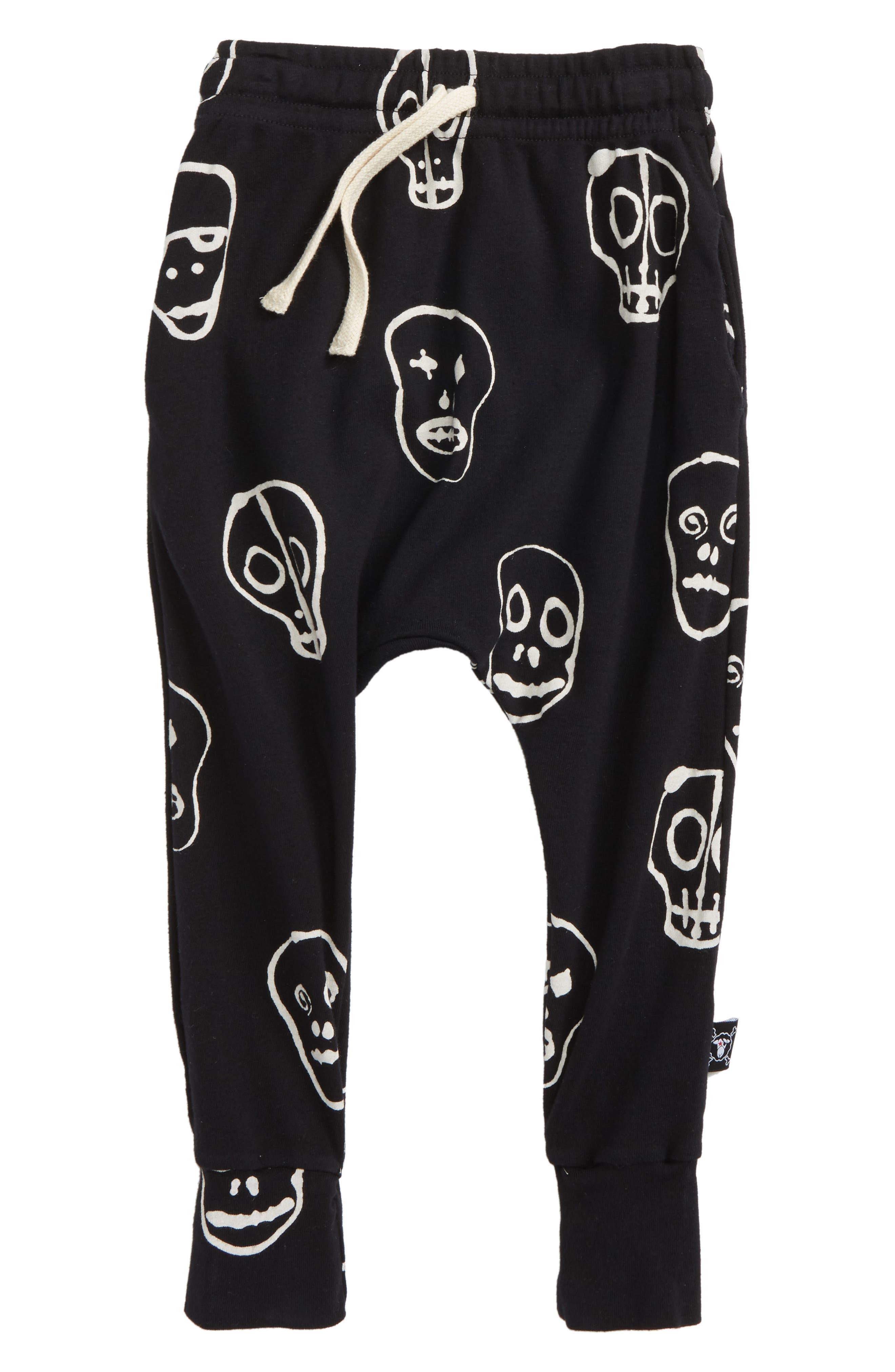 Skull Print Jogger Pants,                         Main,                         color,