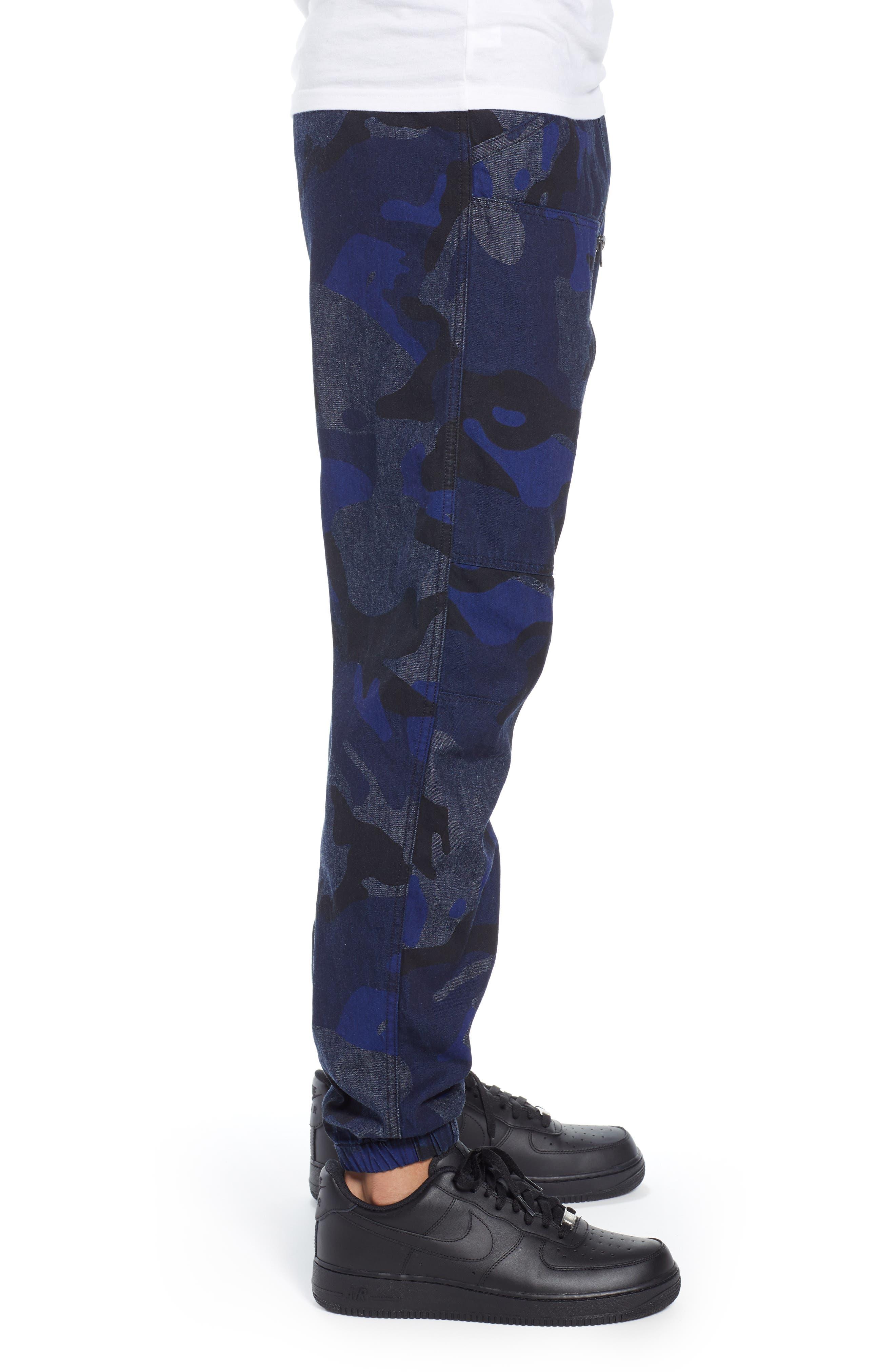 Powel Tapered Pants,                             Alternate thumbnail 3, color,                             RAW DENIM/ PHANTOM BLUE