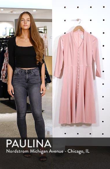 Joy Button Front Velvet Dress, sales video thumbnail