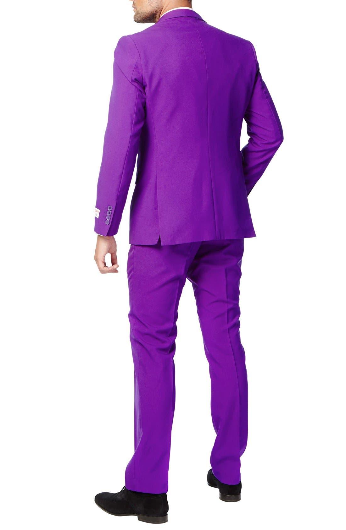 'Purple Prince' Trim Fit Two-Piece Suit with Tie,                             Alternate thumbnail 2, color,                             500