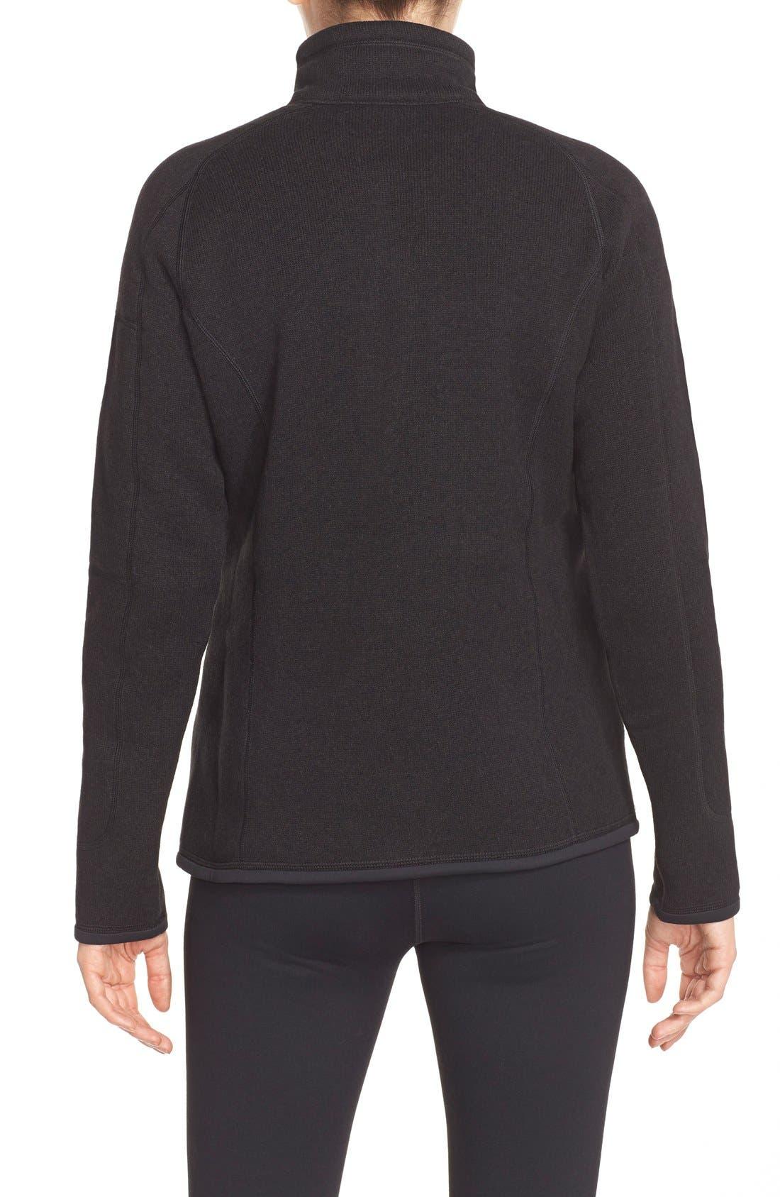 Better Sweater Zip Pullover,                             Alternate thumbnail 4, color,                             001
