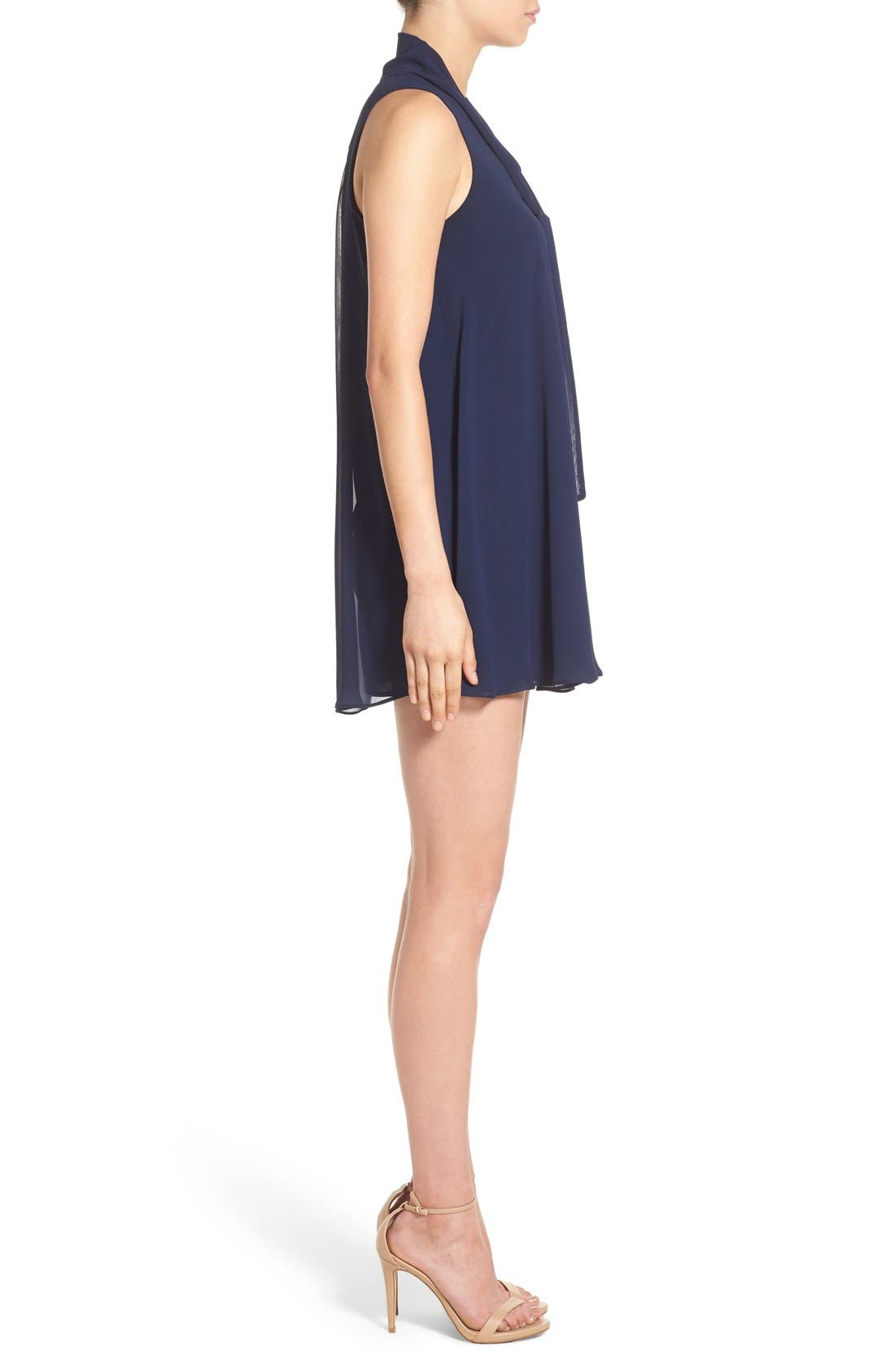 Tie Neck Shift Dress,                             Alternate thumbnail 4, color,                             410