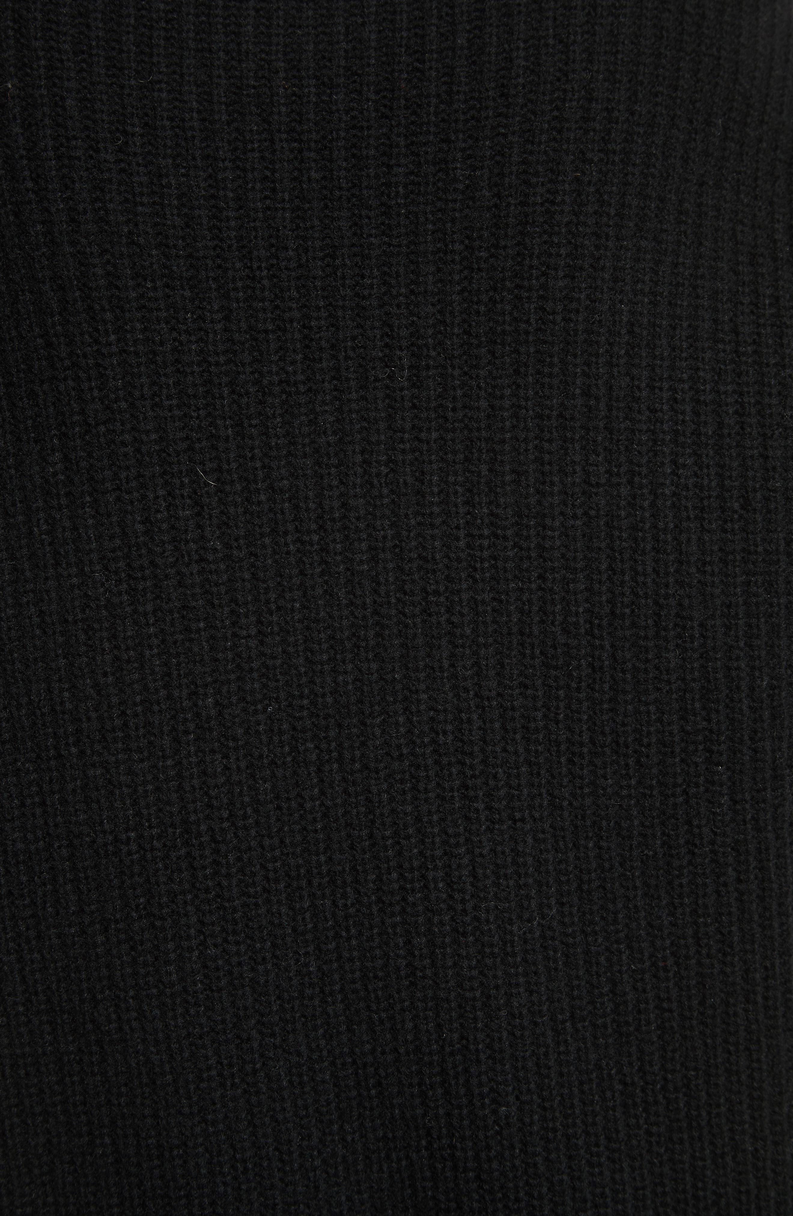 Nimbus Wool Ribbed Cocoon Dress,                             Alternate thumbnail 5, color,                             001