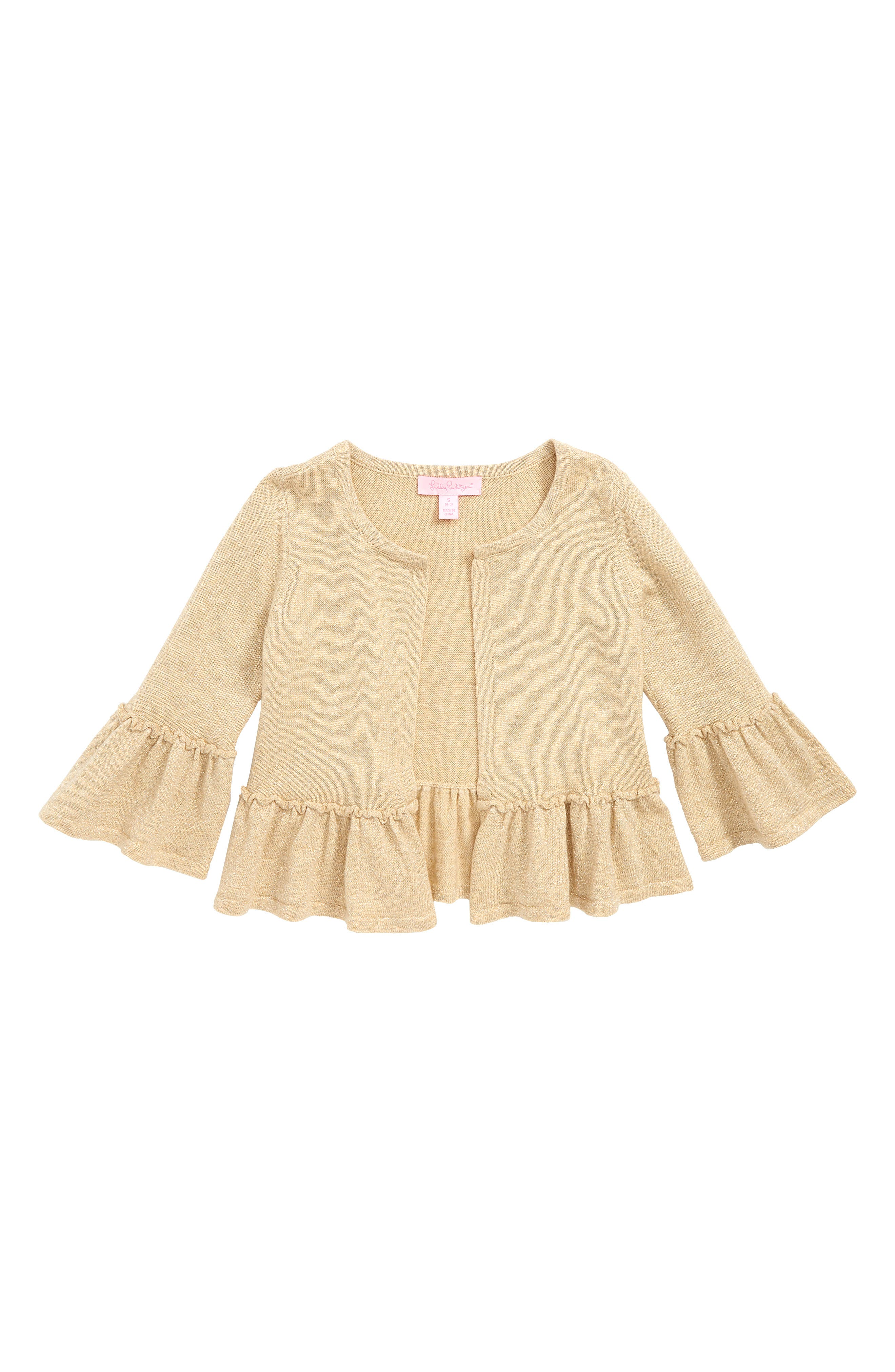 Langley Bell Sleeve Sweater,                         Main,                         color, GOLD METALLIC