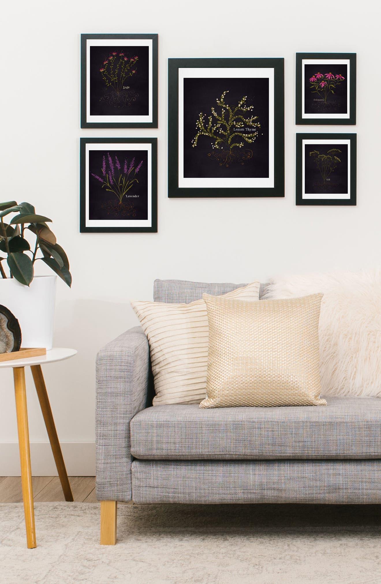 Herb Garden 5-Piece Gallery Wall Art Print Set,                             Alternate thumbnail 2, color,                             BLACK
