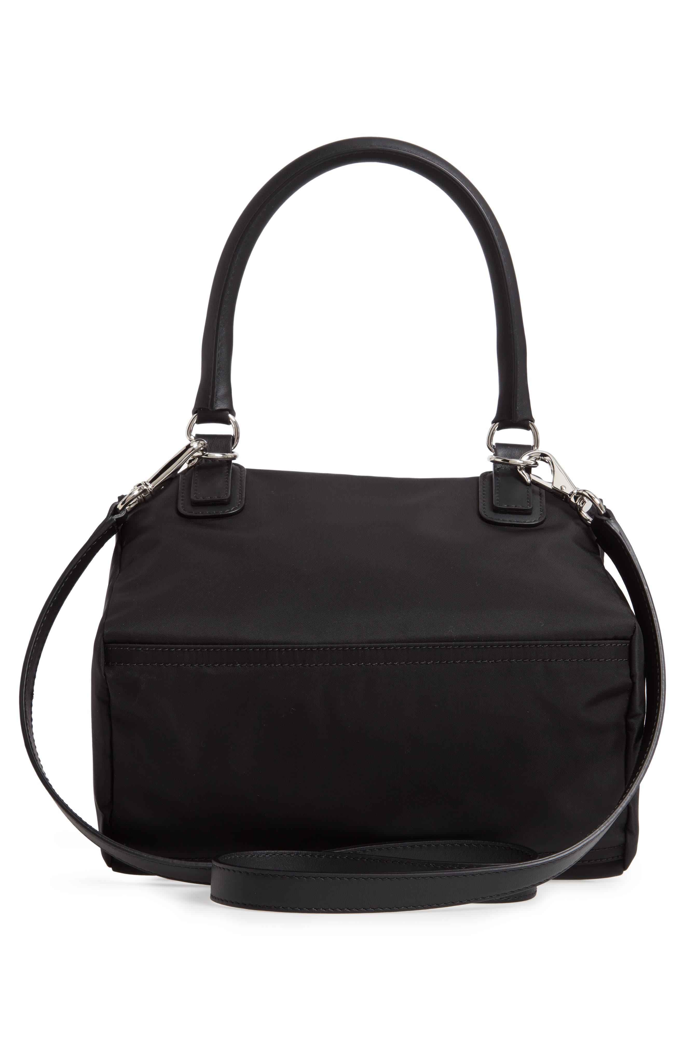 GIVENCHY,                             Small Pandora Logo Shoulder Bag,                             Alternate thumbnail 3, color,                             BLACK