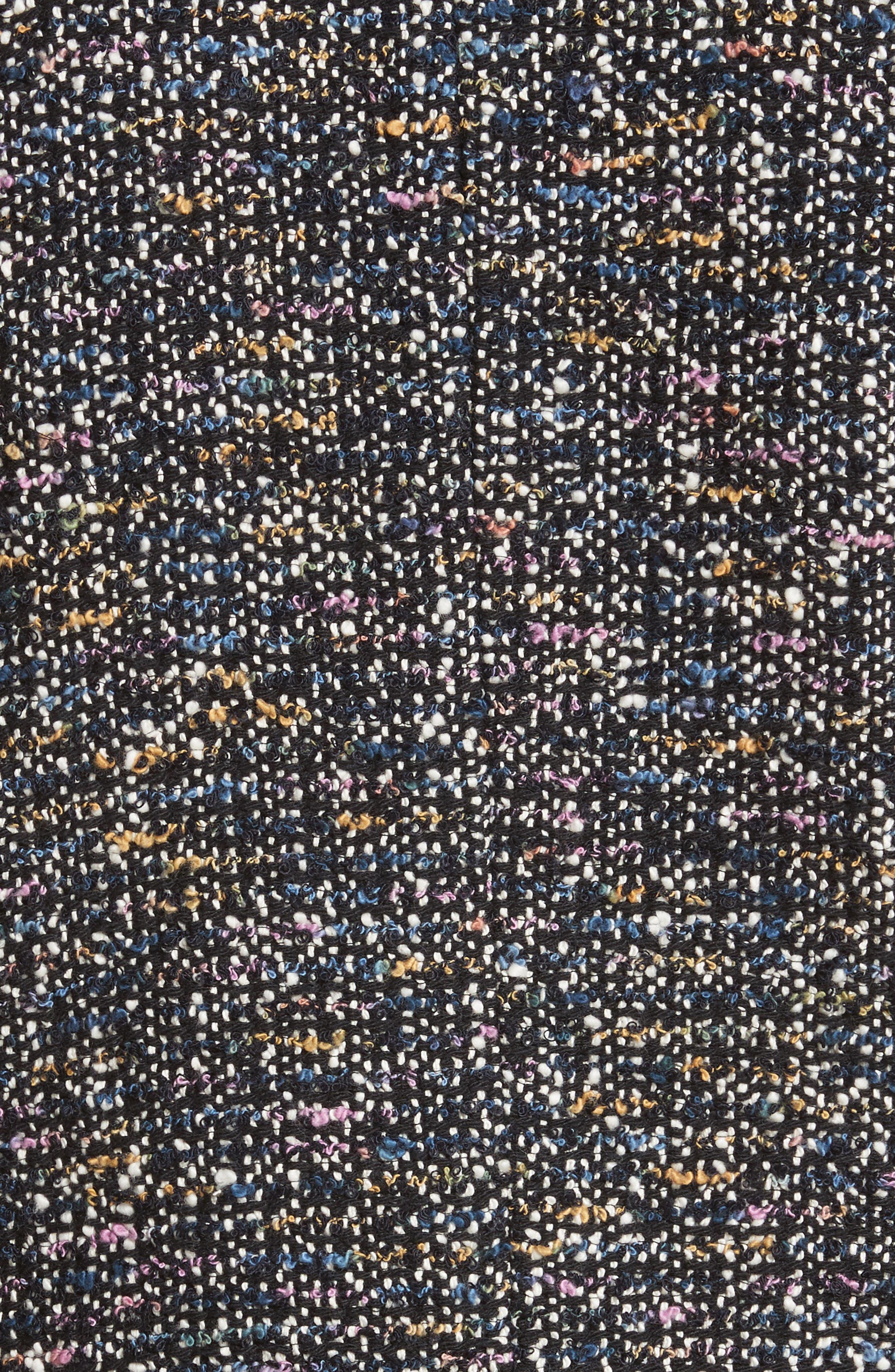 Multi-Tweed Bomber Jacket,                             Alternate thumbnail 6, color,                             009